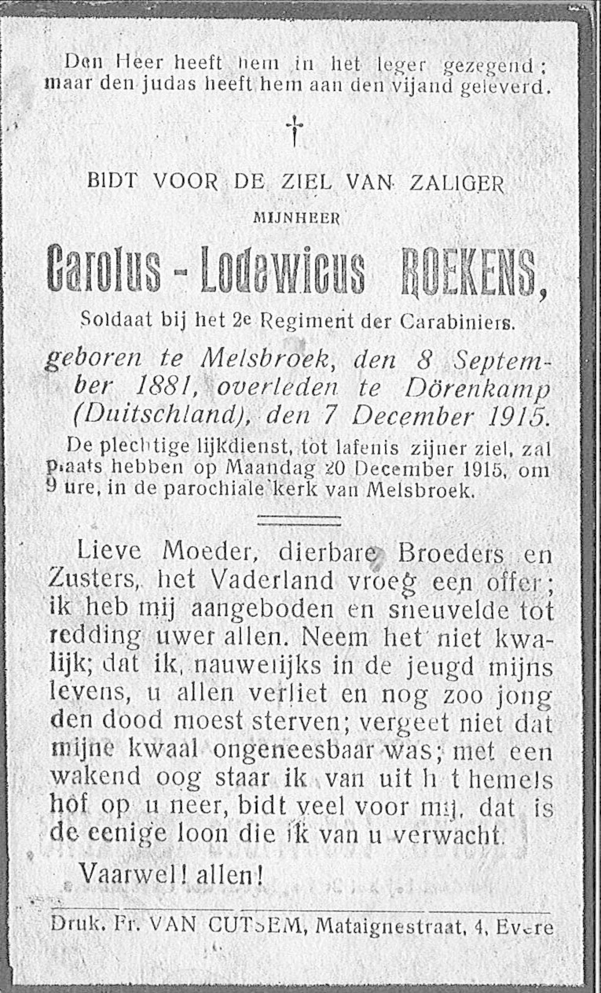 Roekens Carolus-Lodewicus