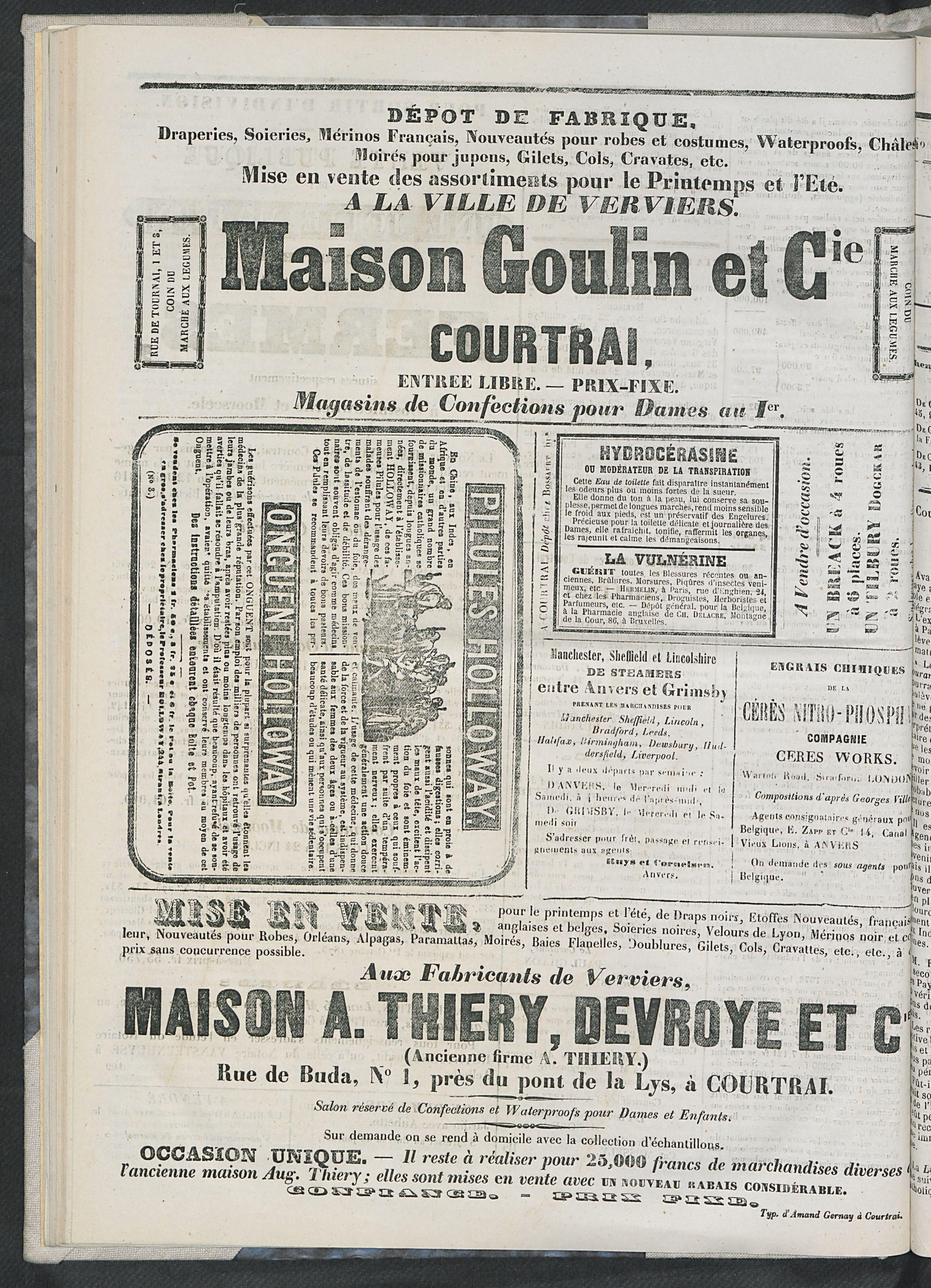 L'echo De Courtrai 1873-04-24 p4