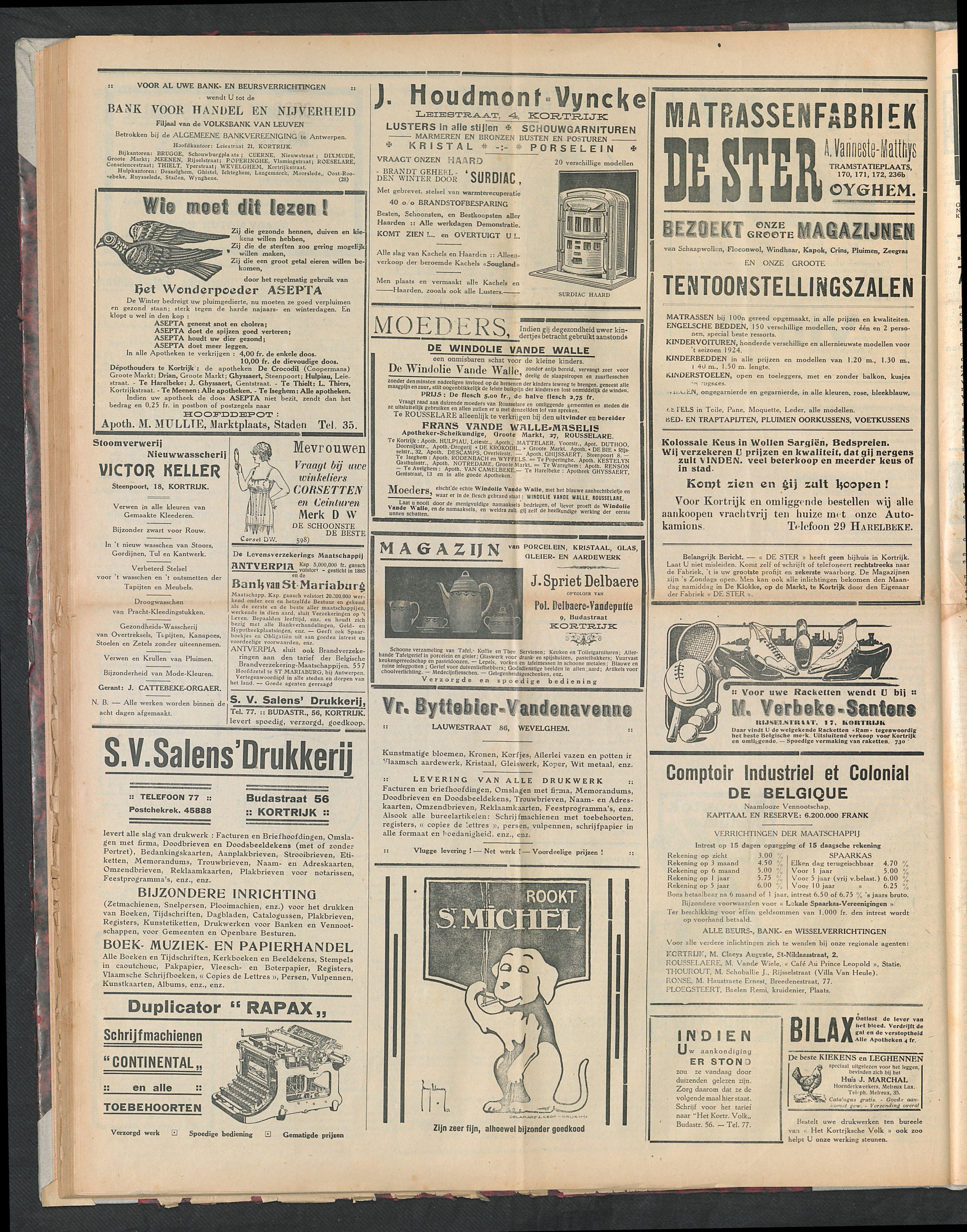 Het Kortrijksche Volk 1924-10-26 p2