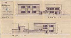 Bouwplannen voor een nieuw gemeentehuis te Aalbeke, 1963-1964
