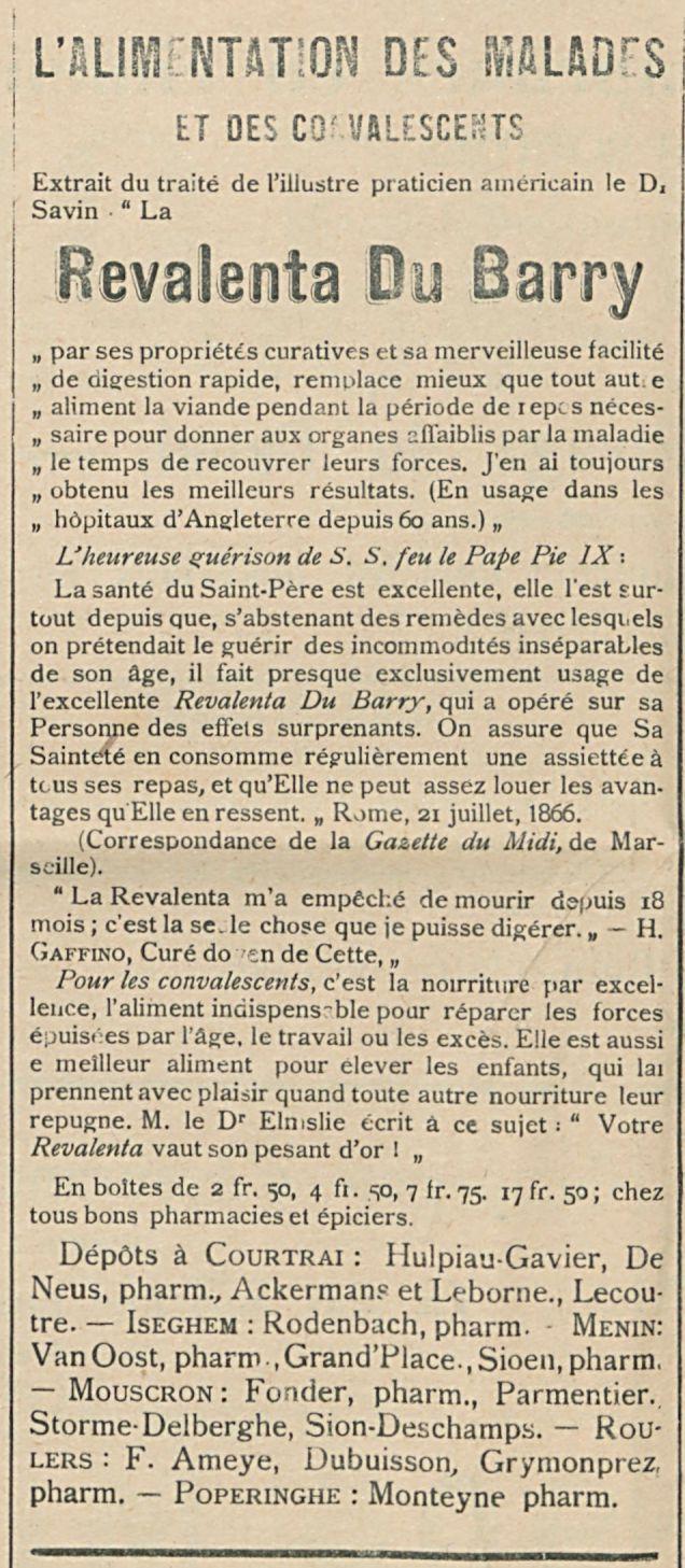 Revalenta Du Barry