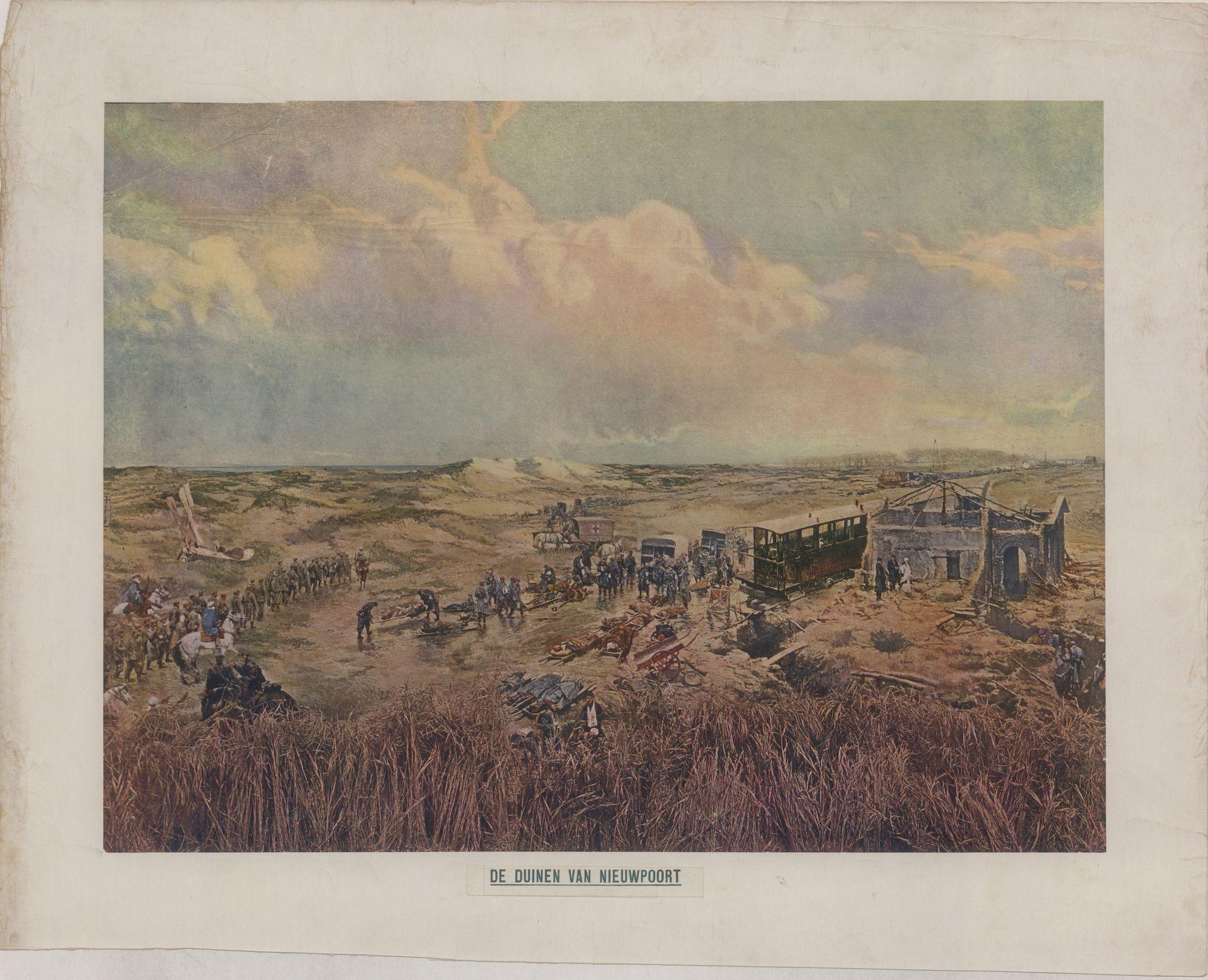 Westflandrica - Nieuwpoort, de duinen tijdens Wereldoorlog I
