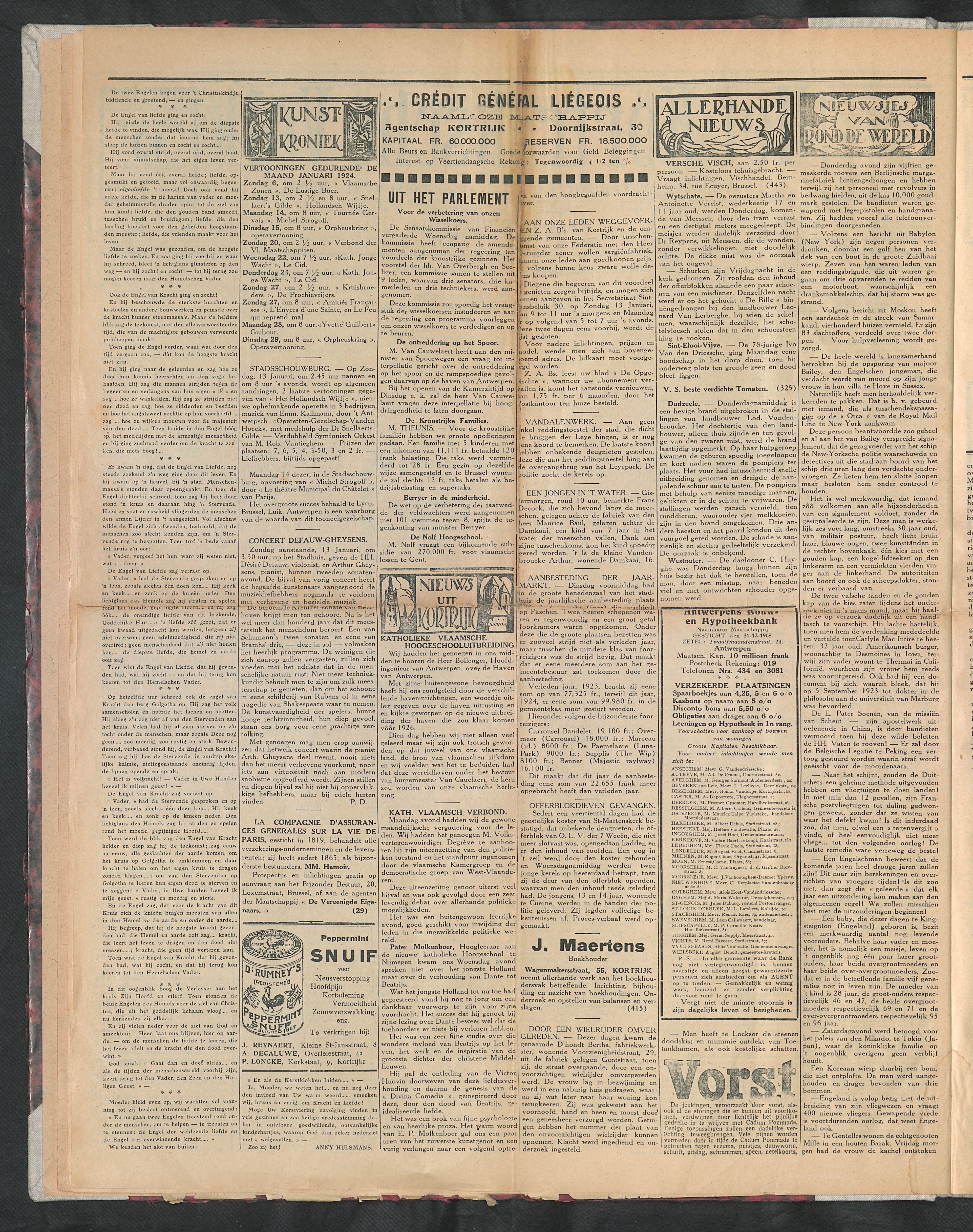 Het Kortrijksche Volk 1924-01-13 p2