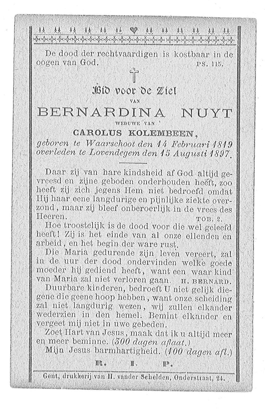 Bernardina Nuyt