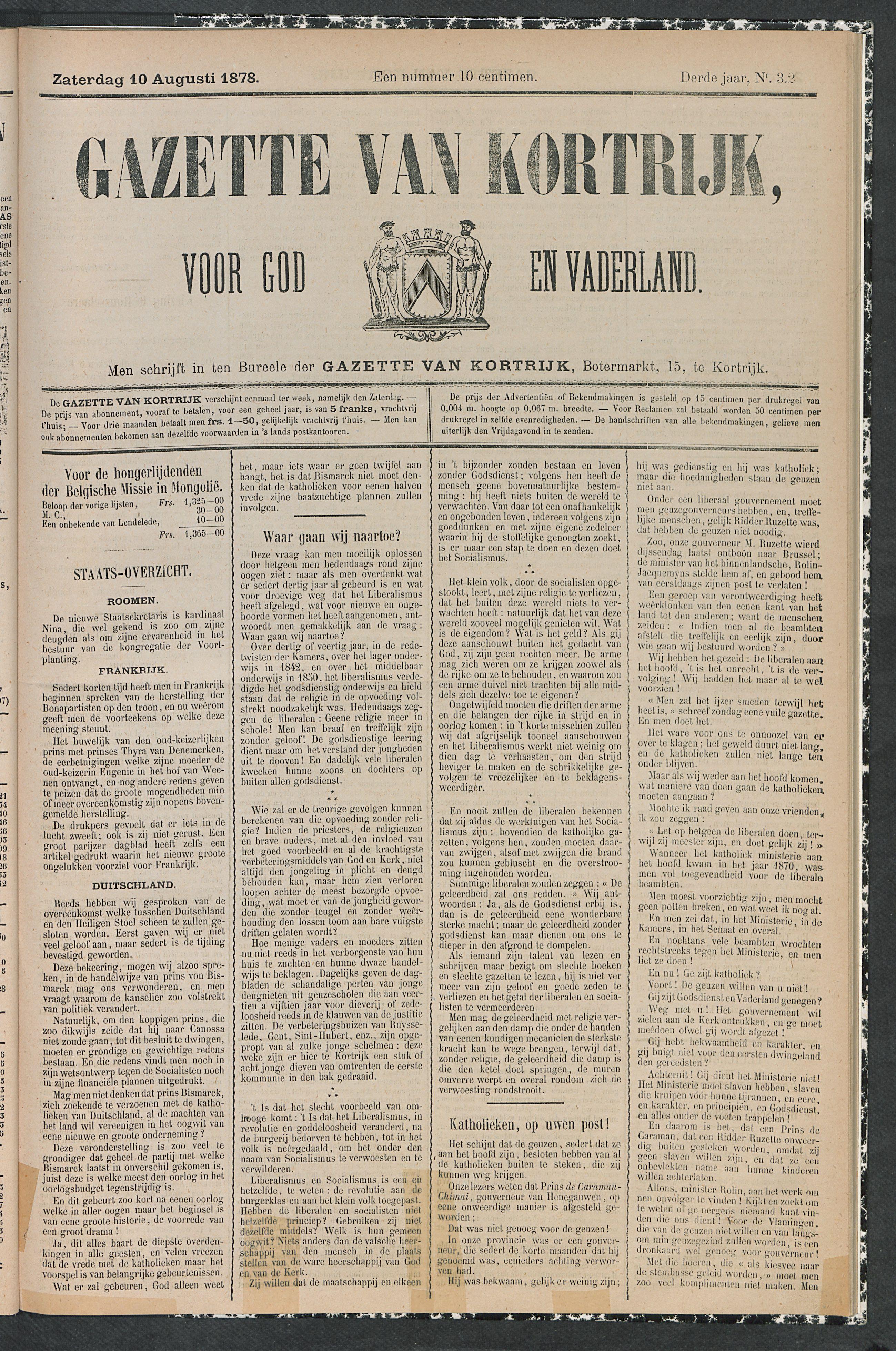 Gazette Van Kortrijk 1878-08-10 p1