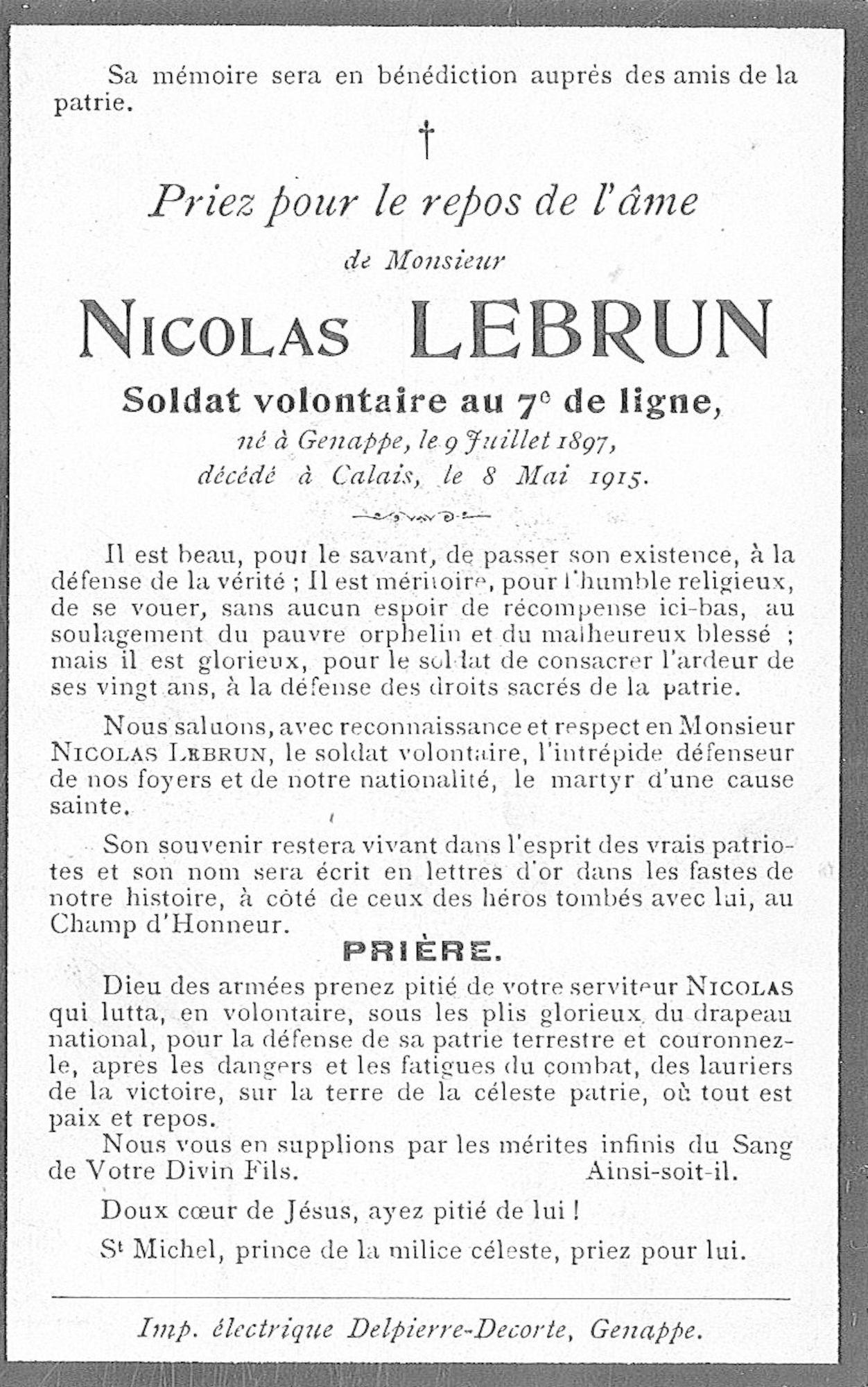 Lebrun Nicolas