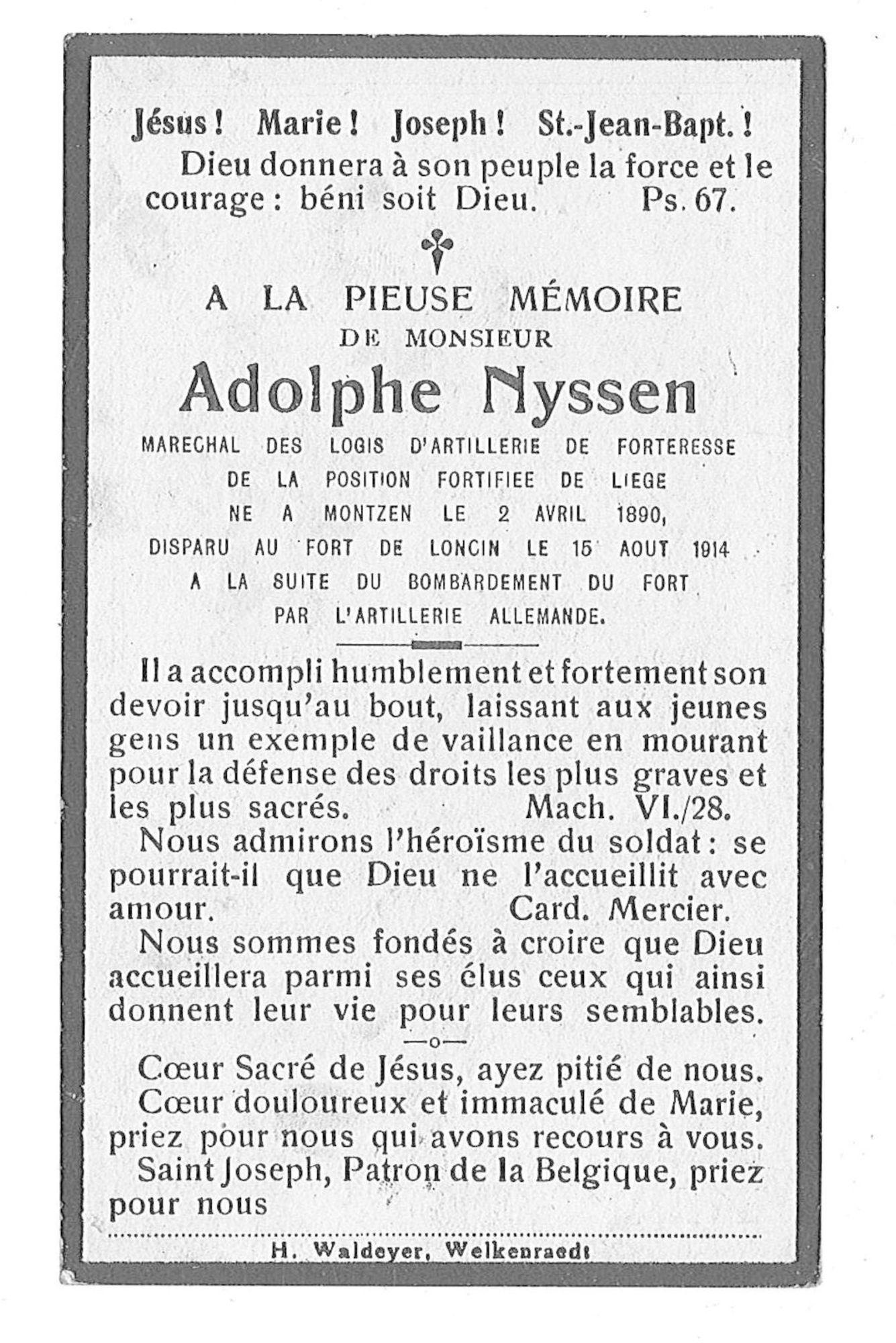 Adolphe Nyssen