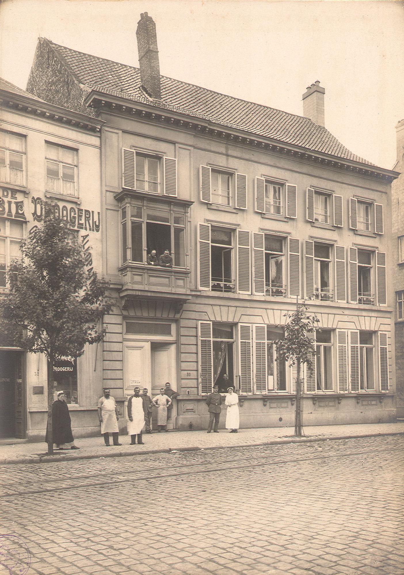 Verpleeginstelling van de Duitse bezetter in 1916