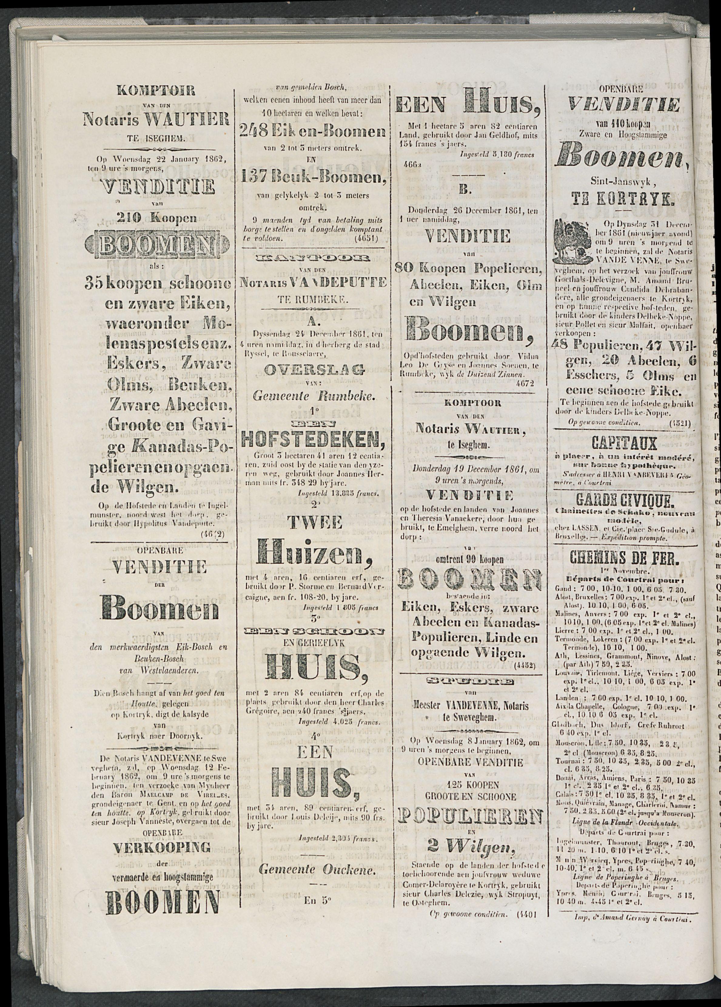 L'echo De Courtrai 1861-12-18 p4