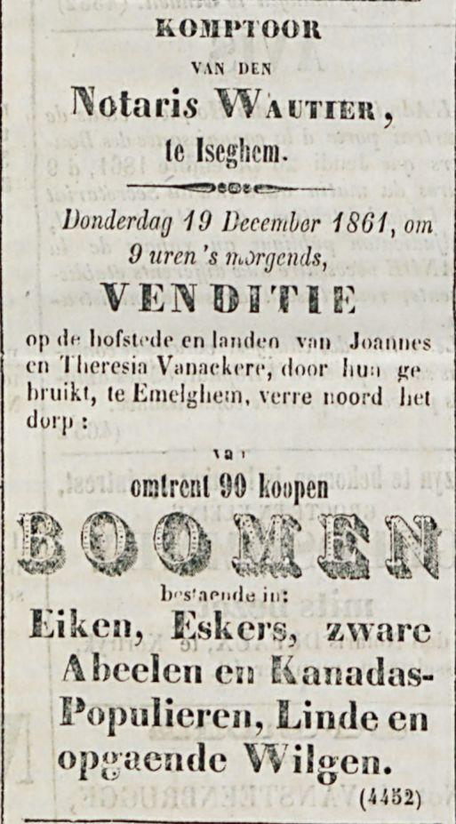 KOMPTOOR van den Notaris WAUTIER