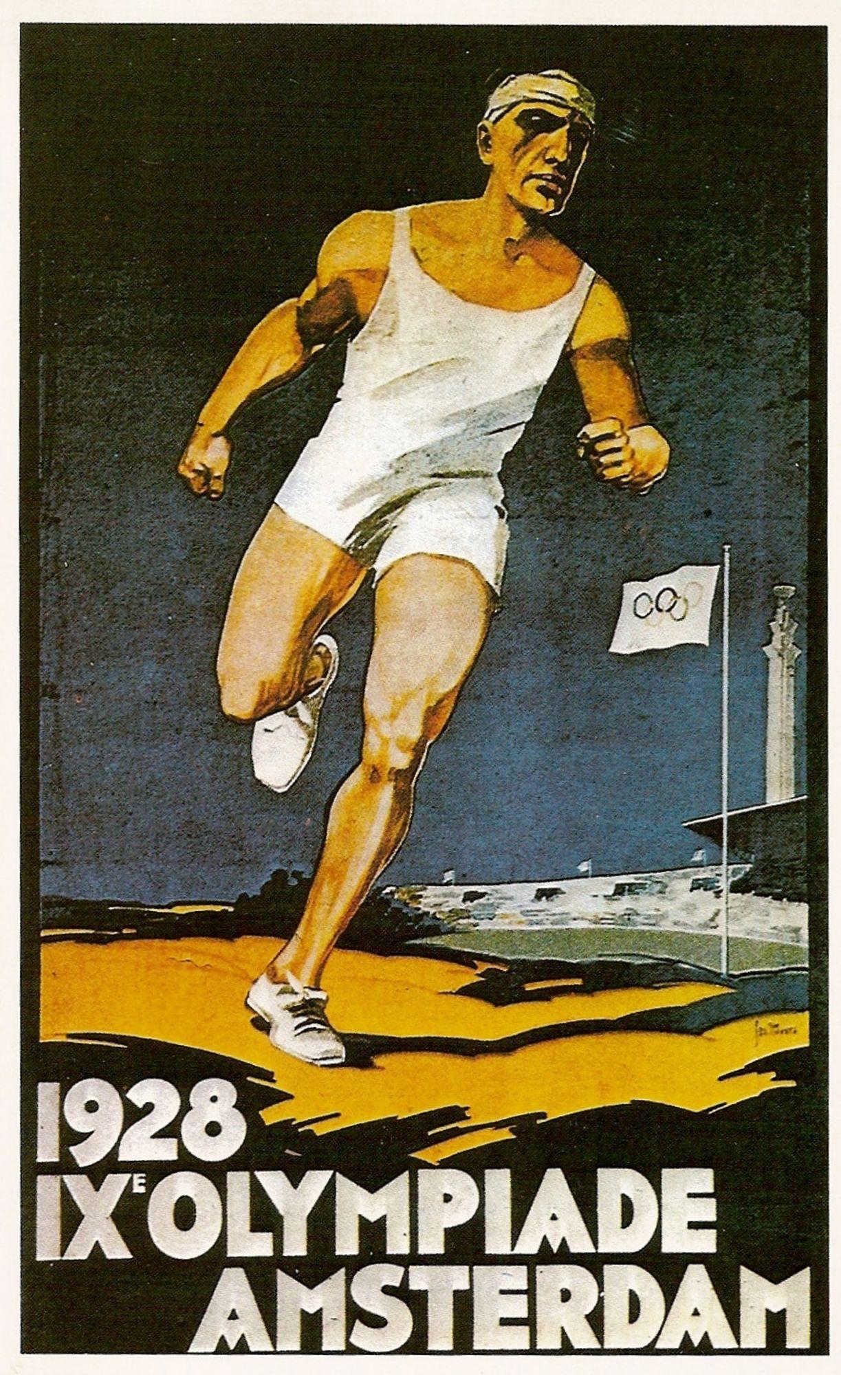 Affiche van de IXe olympiade van Amsterdam 1928