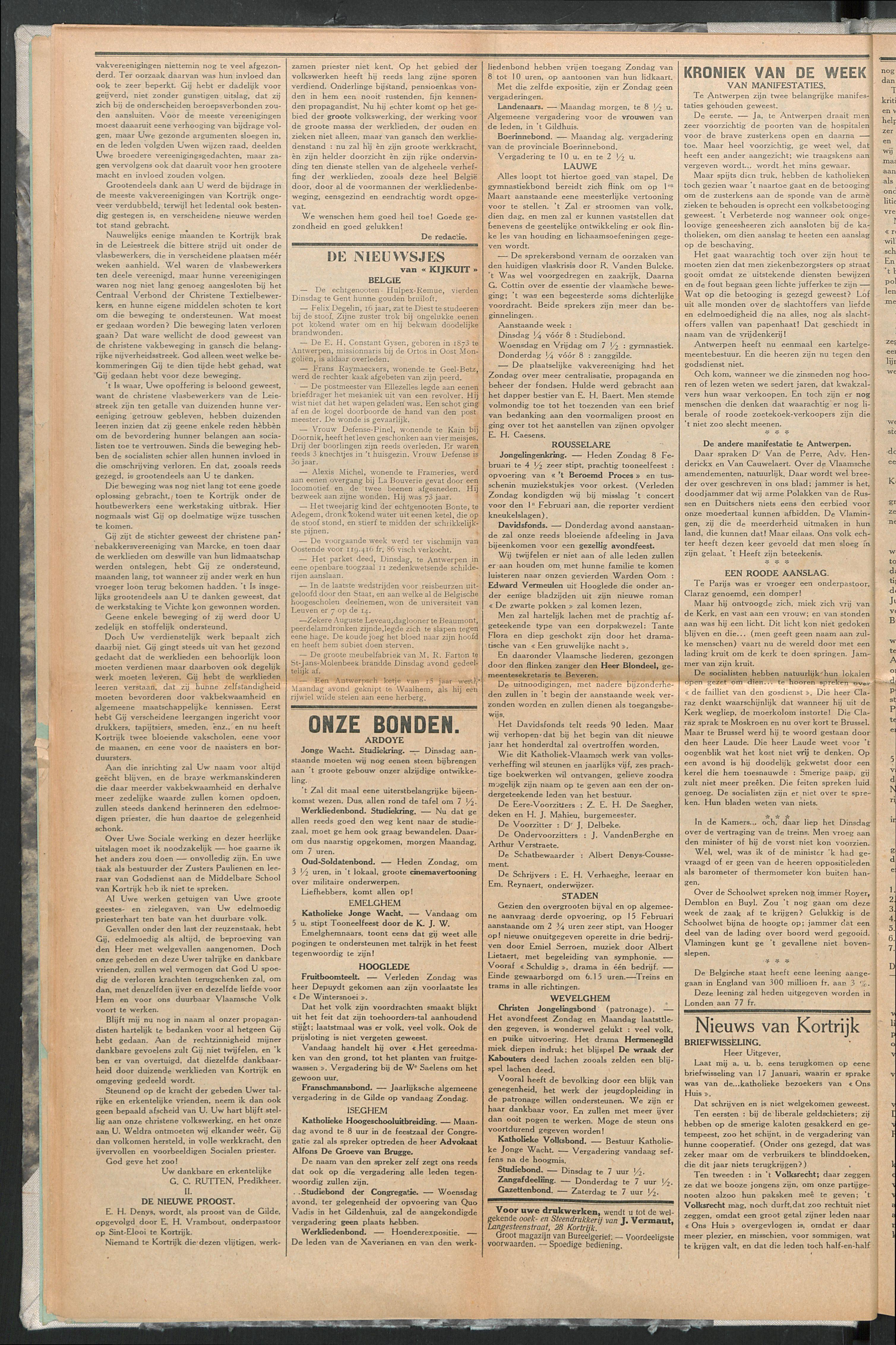 Het Kortrijksche Volk 1914-02-08 p2