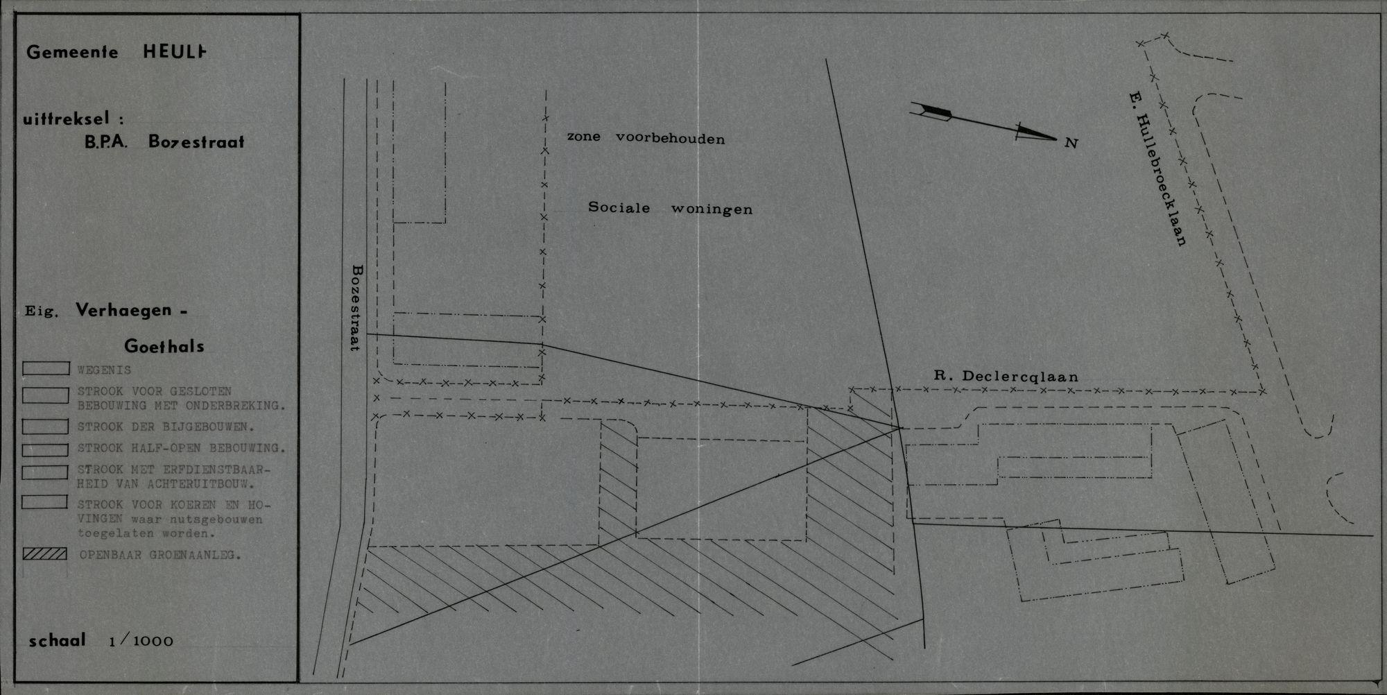 Plan B.P.A. Bozestraat, Heule, 2de helft 20ste eeuw