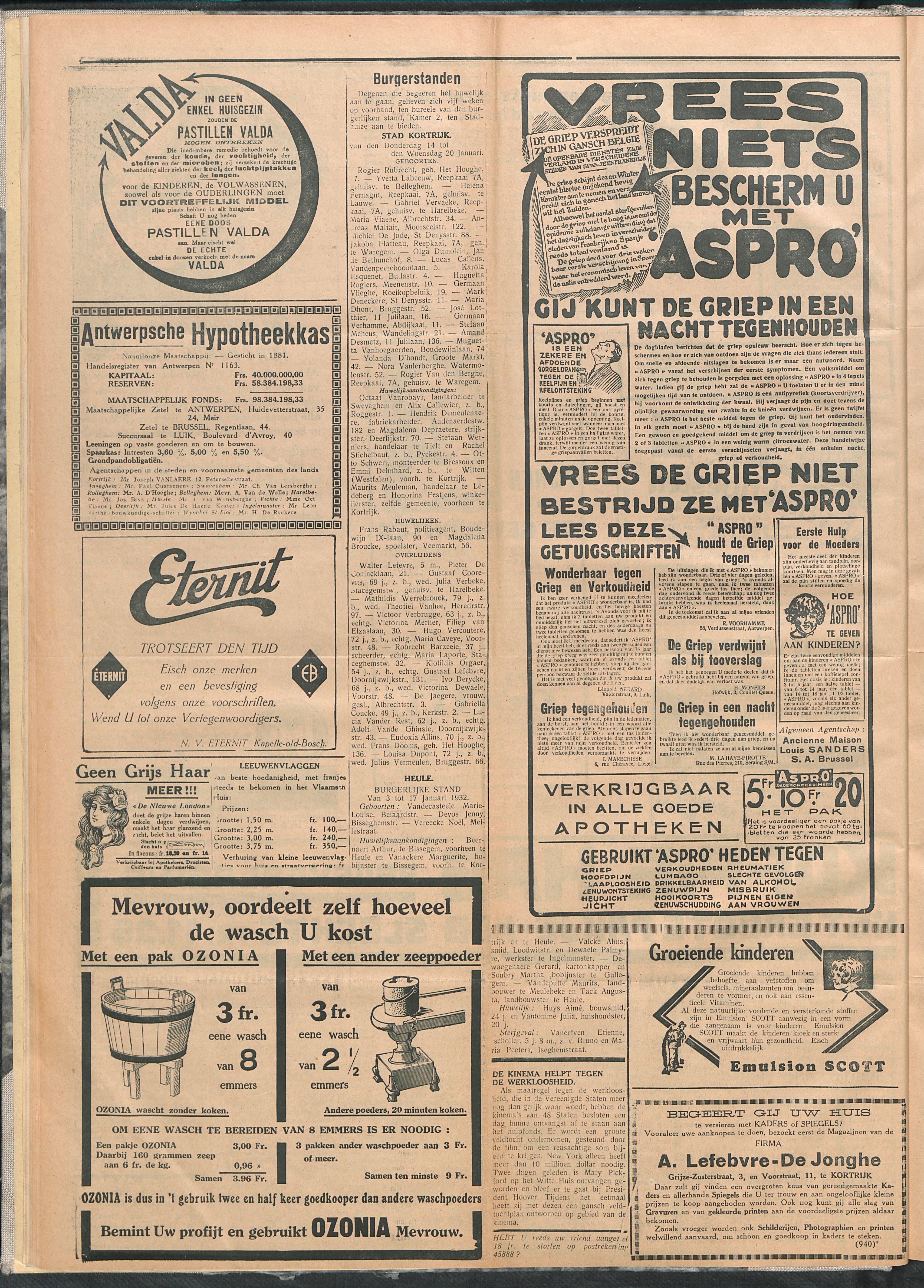 Het Kortrijksche Volk 1932-01-24 p4
