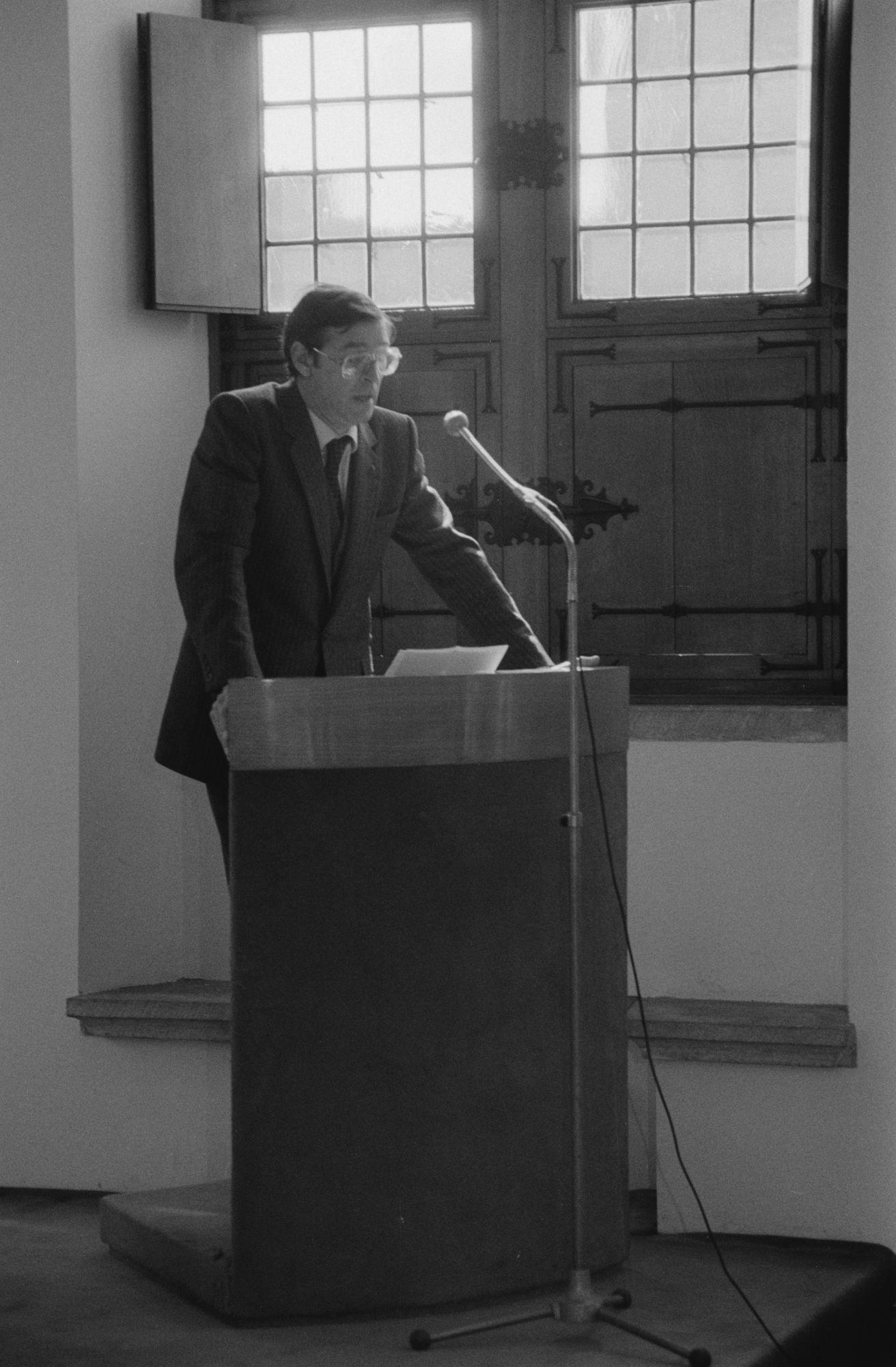 Minister Daniel Coens op het stadhuis