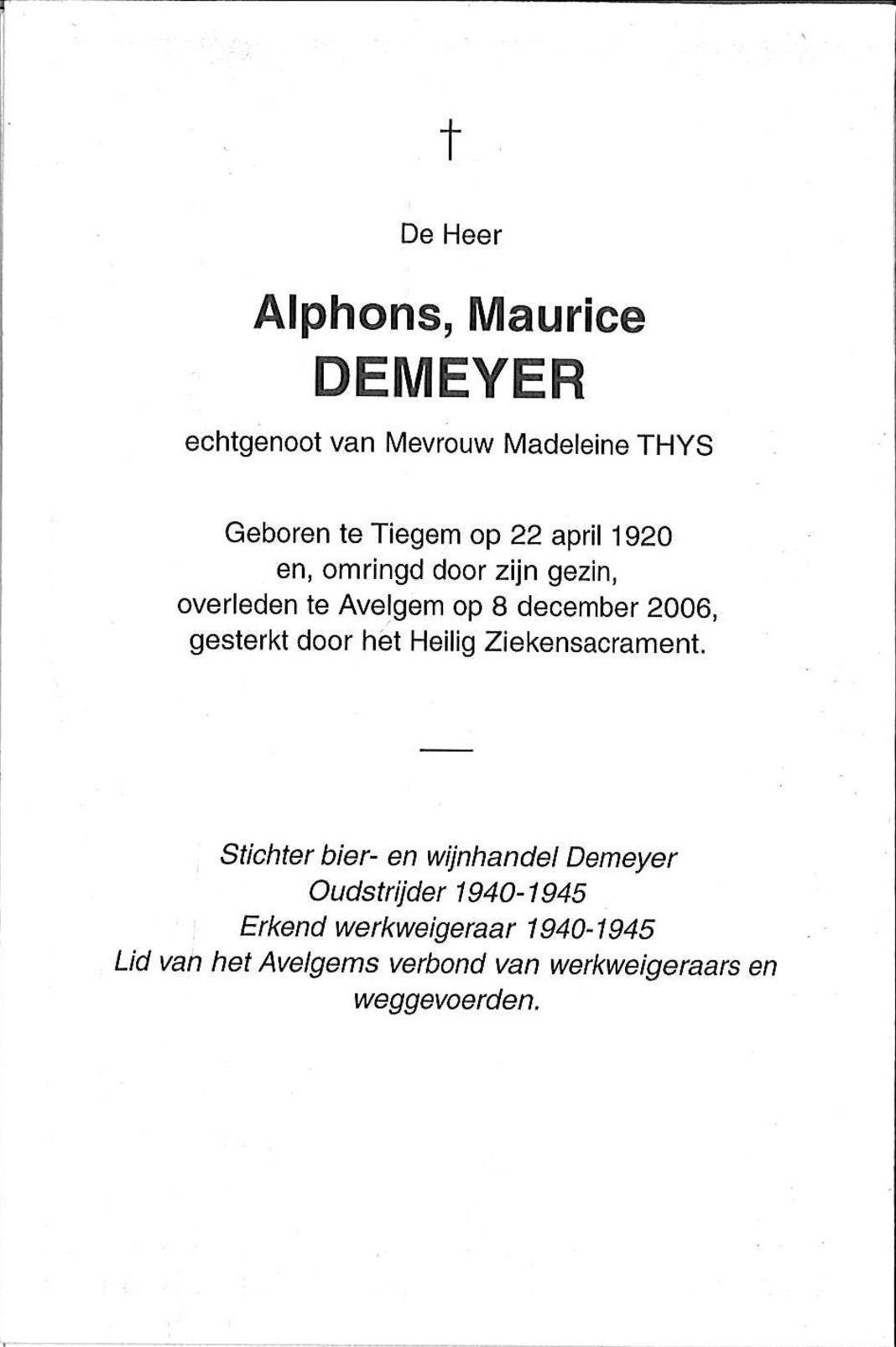 Alphonse,Maurice Demeyer