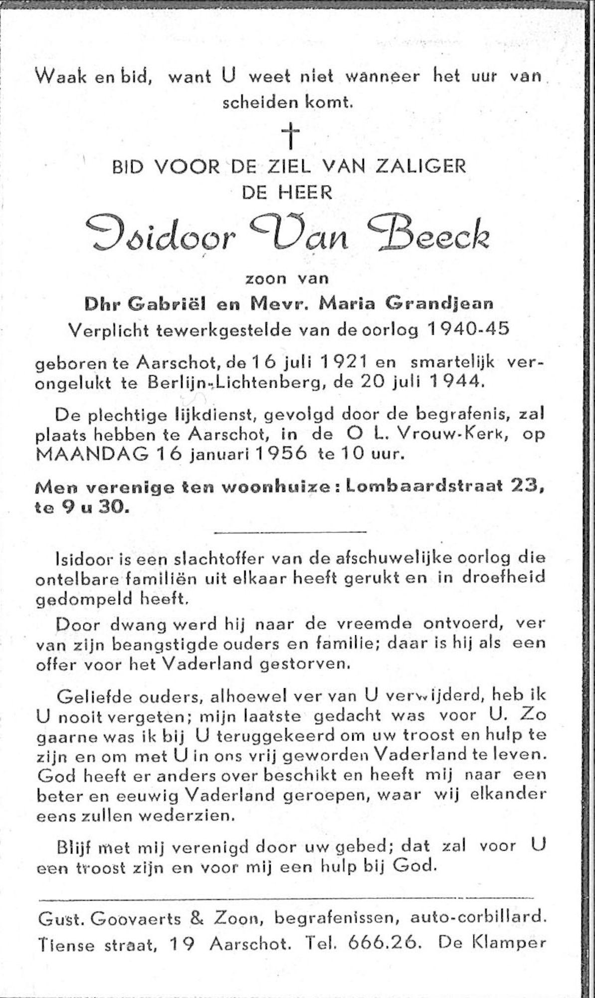 Isidoor Van Beeck