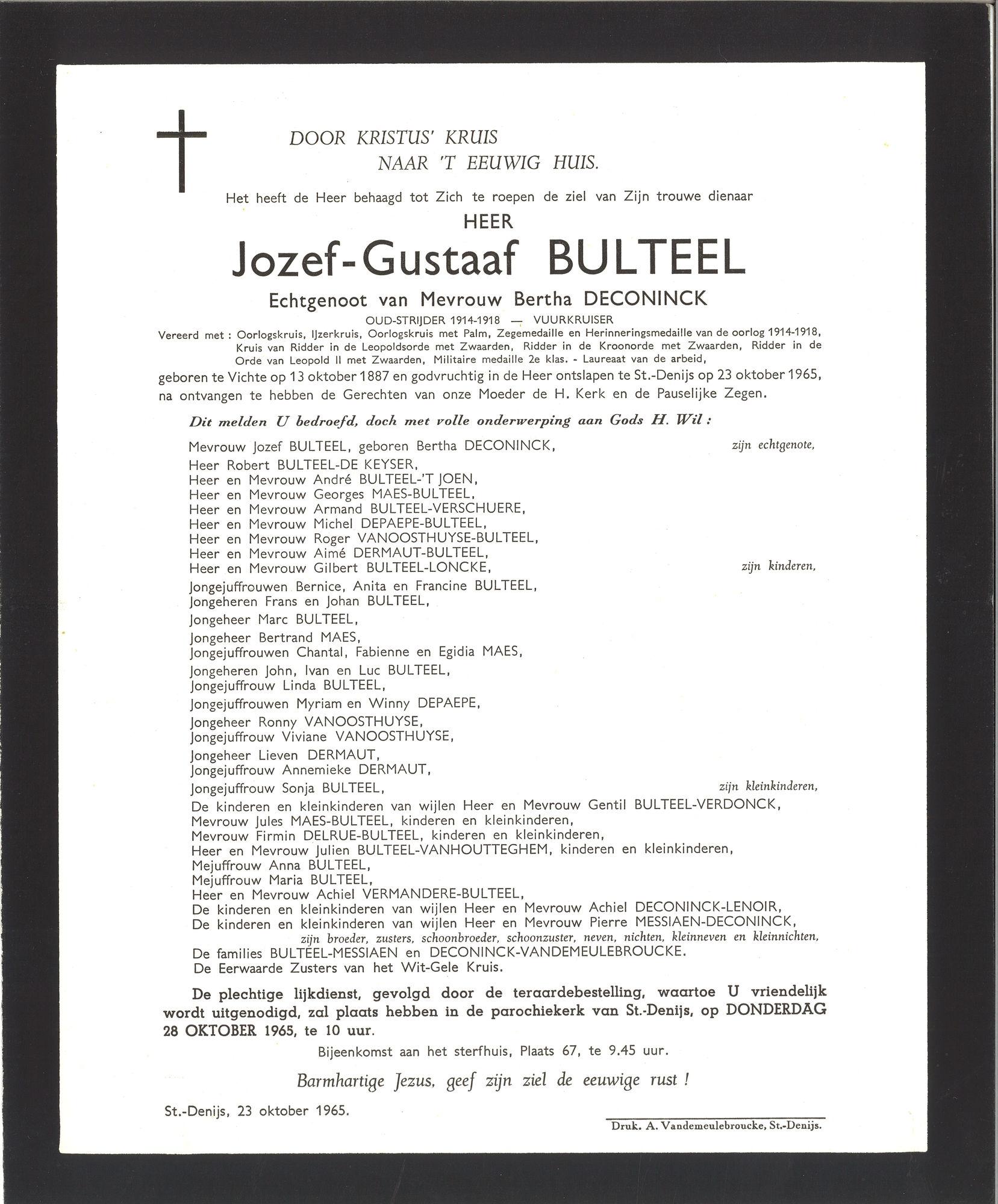 Bulteel Jozef-Gustaaf
