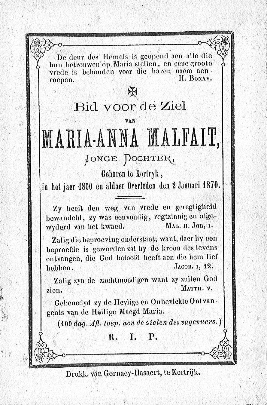 Maria-Anna Malfait