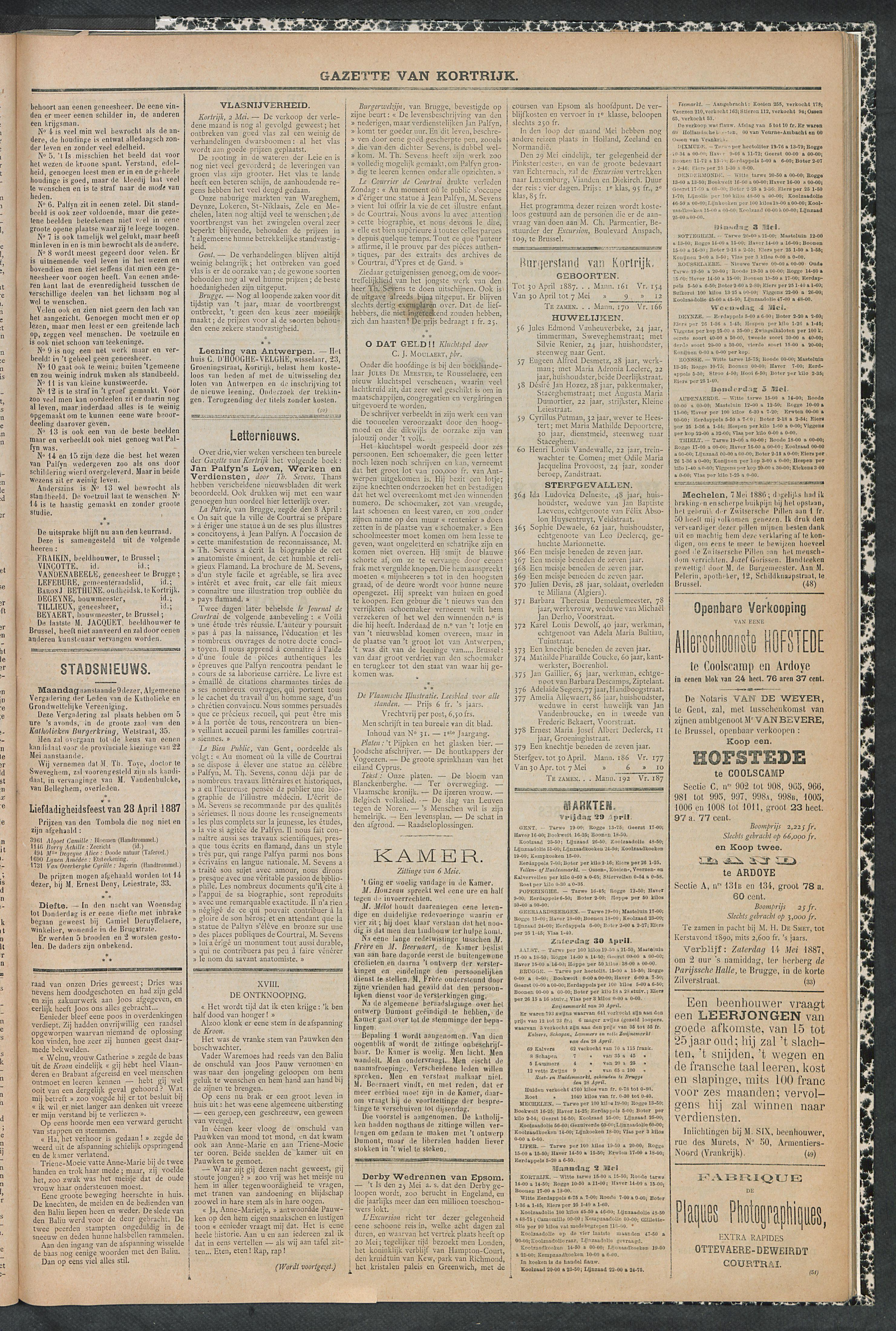 Gazette Van Kortrijk 1887-05-07 p3