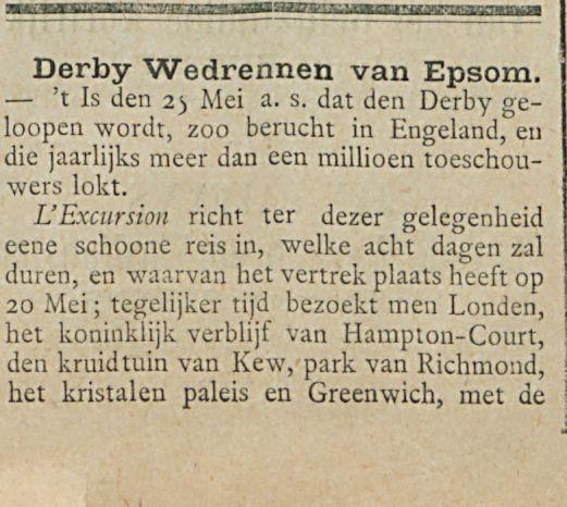 Derby Wedrennen van Epsom