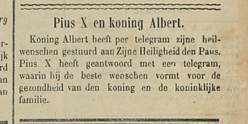 Pius X en koning Albert