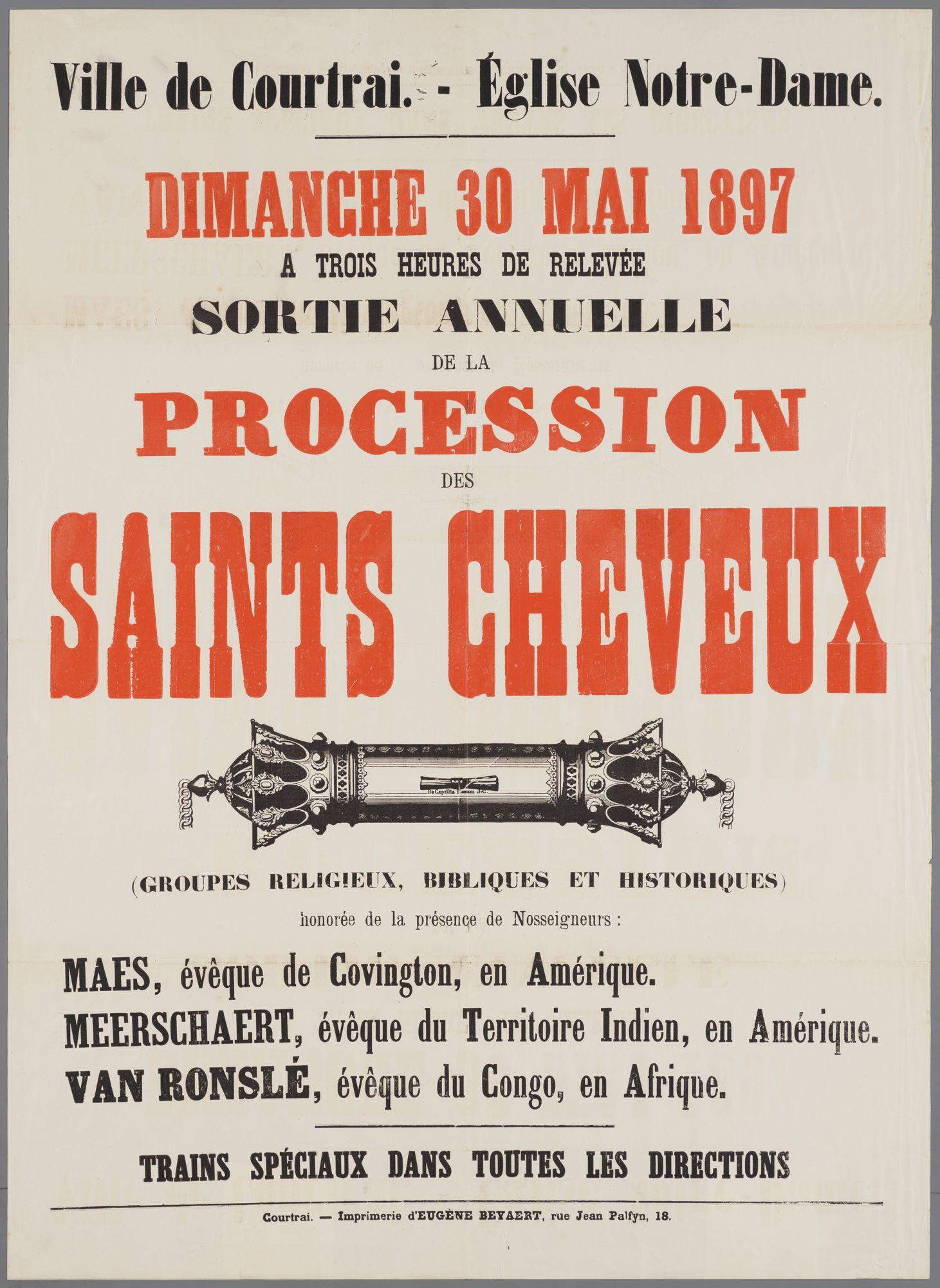 Plechtigheden Onze-Lieve-Vrouwekerk 1897