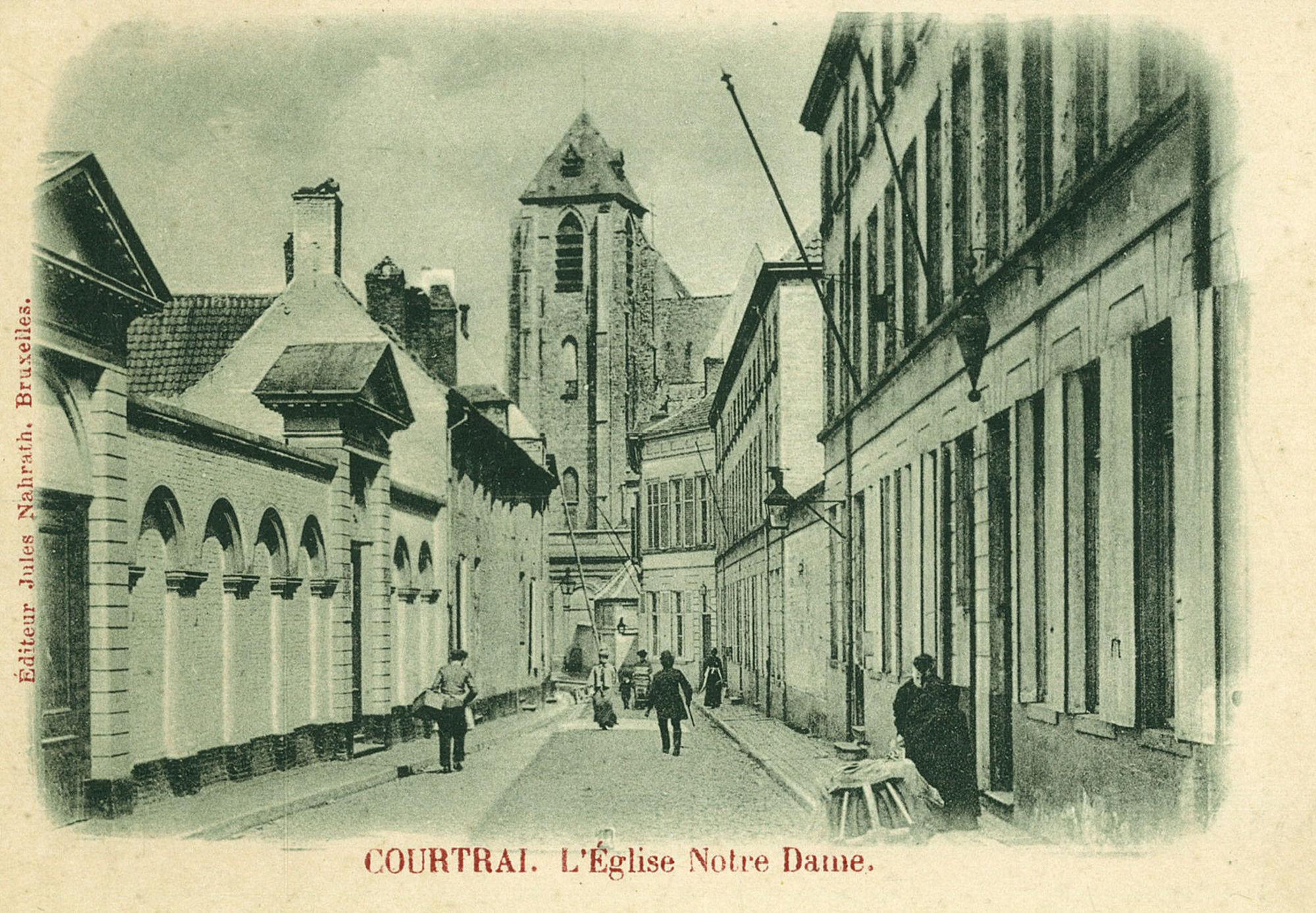 Begijnhofstraat met Onze-Lieve-Vrouwekerk