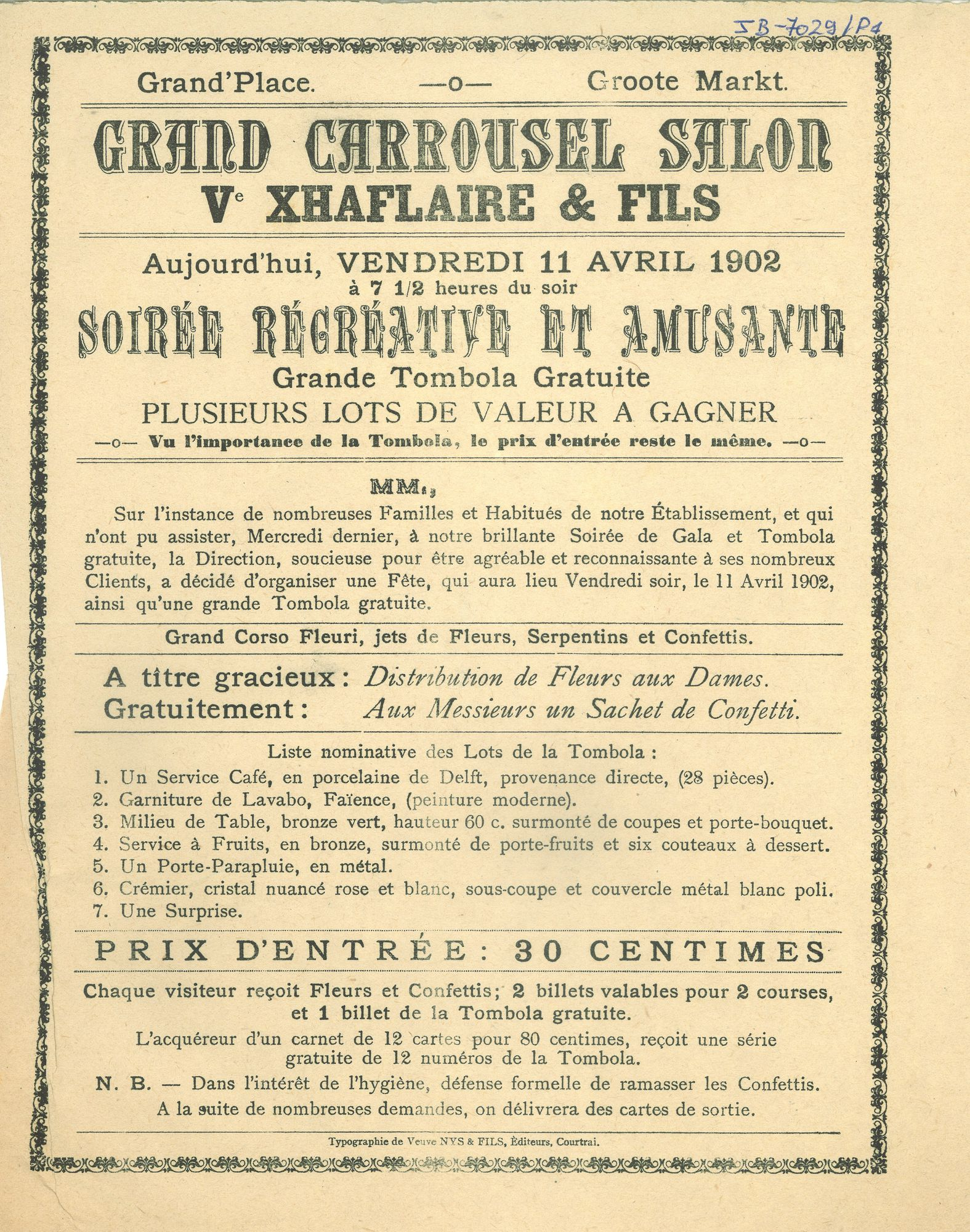 Paasfoor 1902: Grand Carrousel Salon