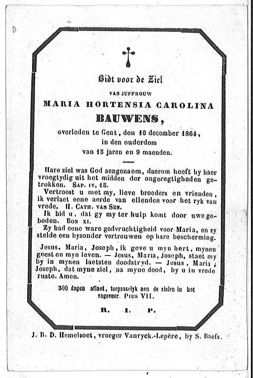 Maria Hortensia Carolina Bauwens