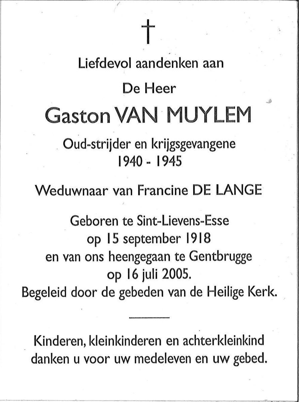 Van Muylem Gaston