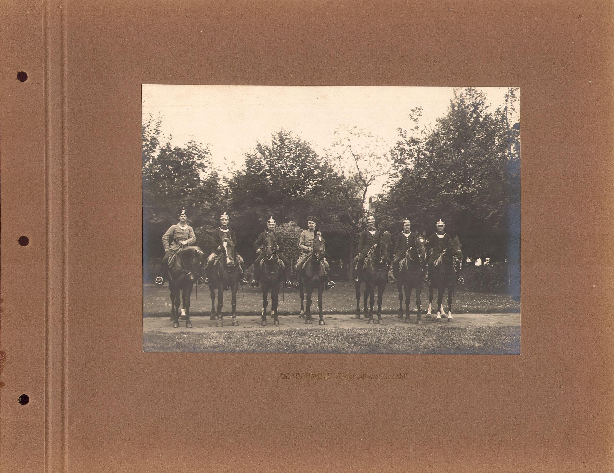 Gendarmerie tijdens Wereldoorlog I