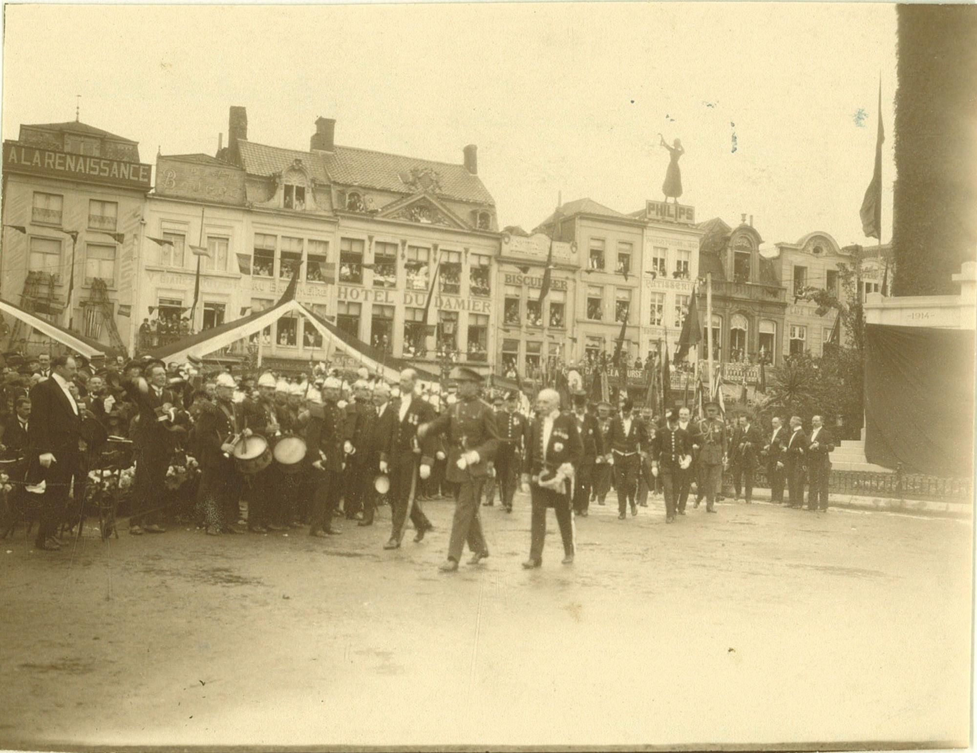 Inwijding van het oorlogsmonument 1914-1918, 15 juli 1923