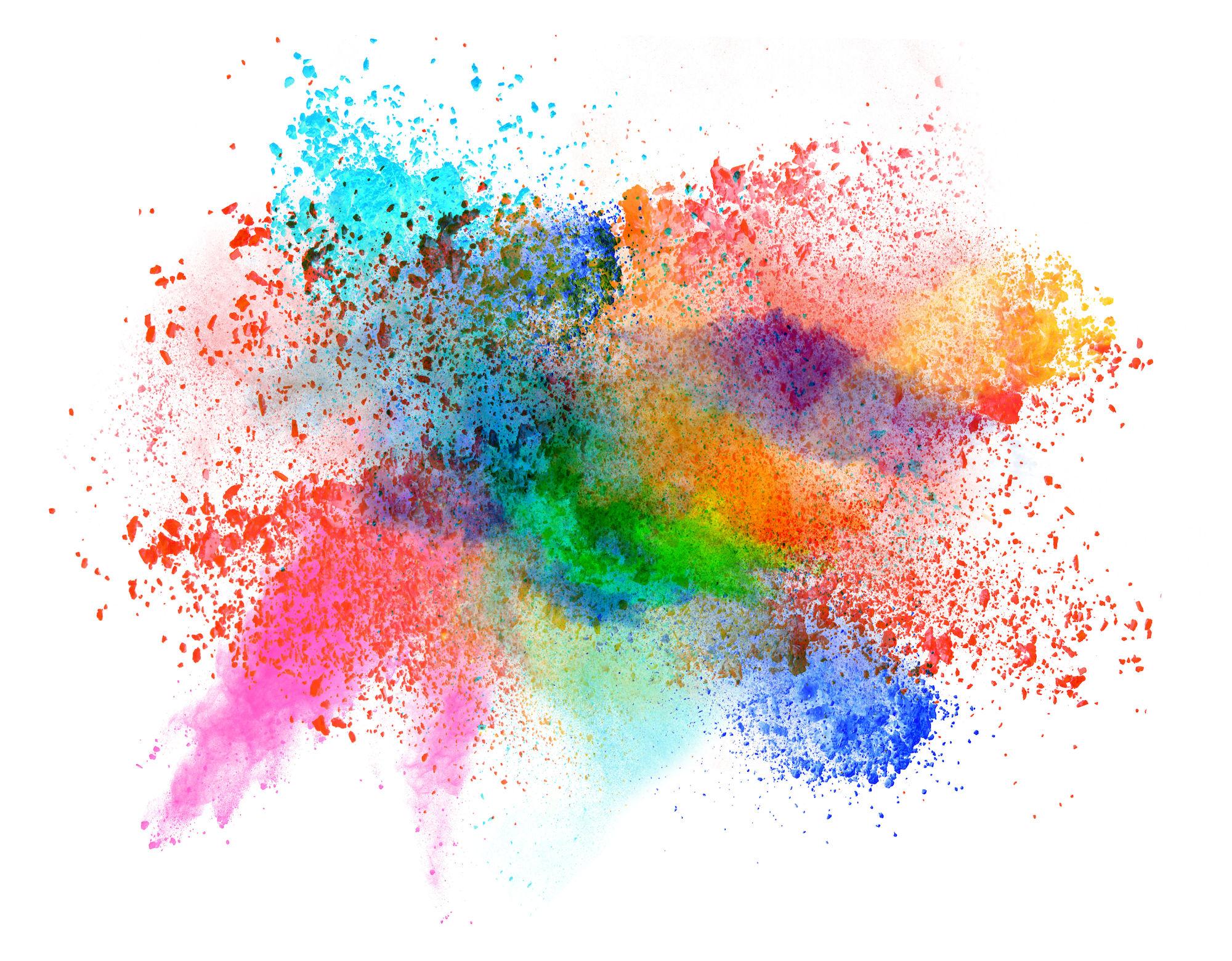 Gekleurd poeder