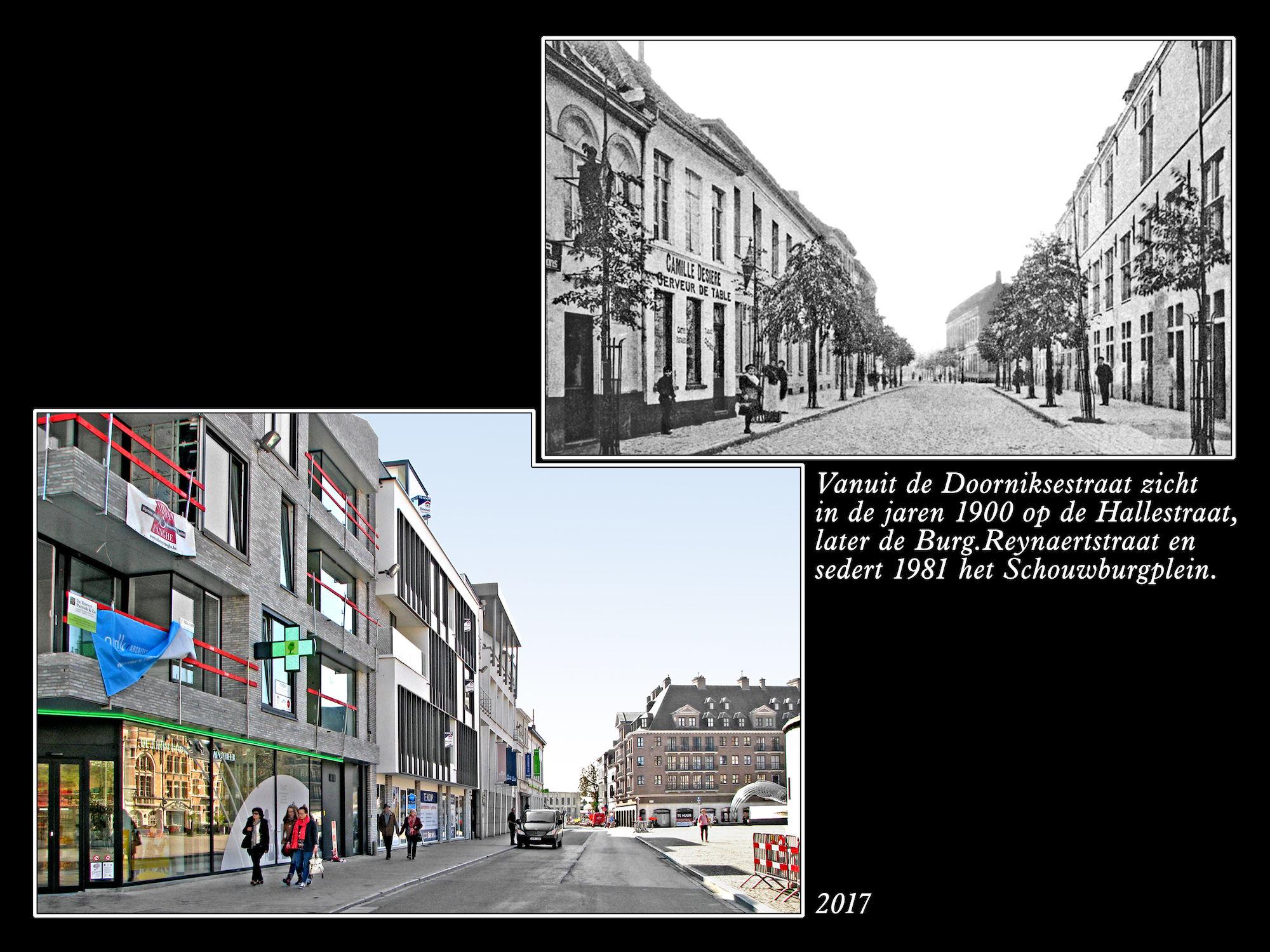Schouwburgplein ca 1900 en  2017