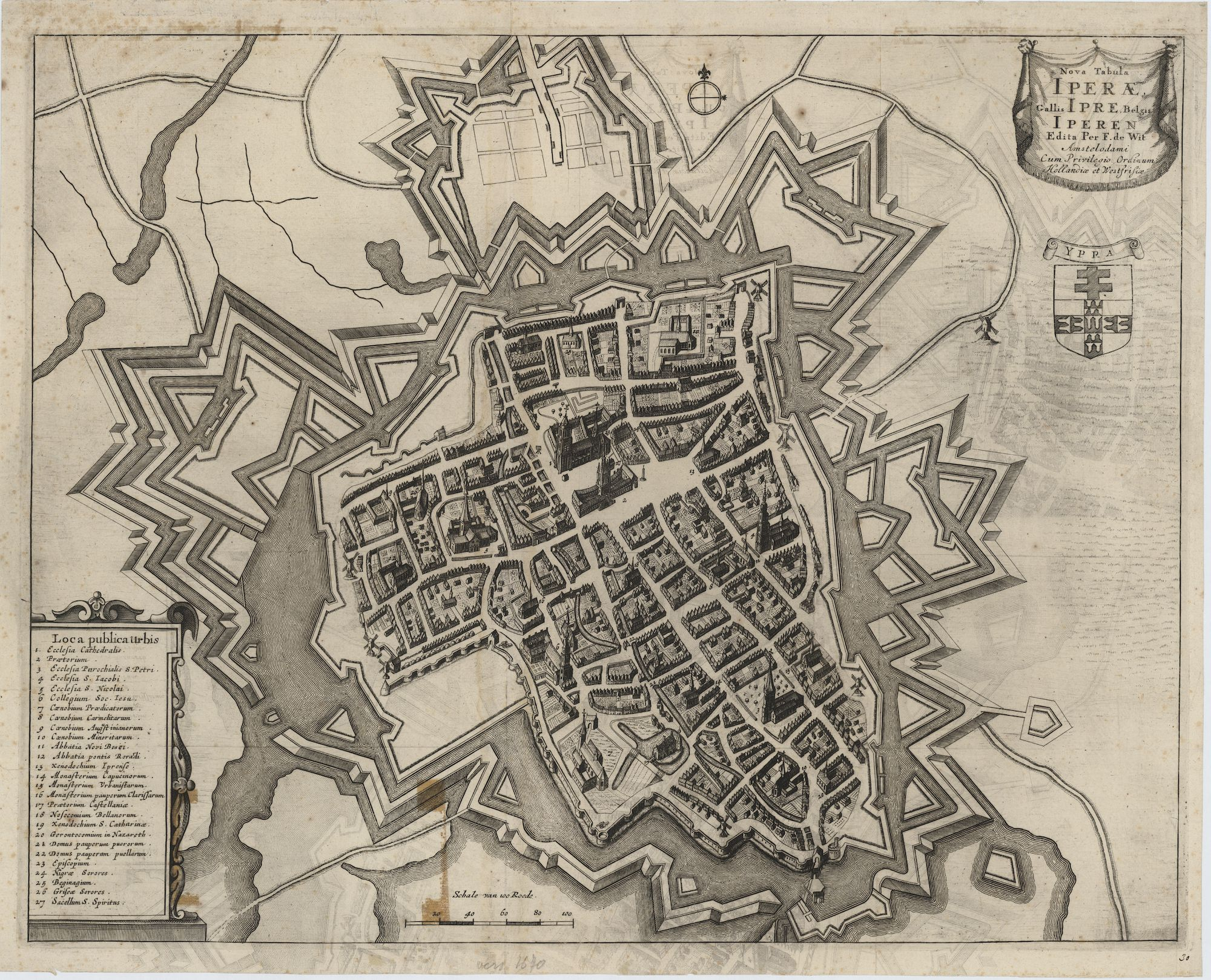 Westflandrica - Iper, stadsplan