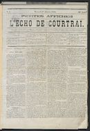 L'echo De Courtrai 1873-01-01 p1