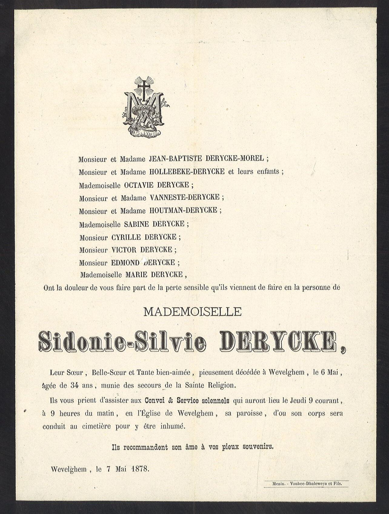 Sidonie - Silvie Derycke