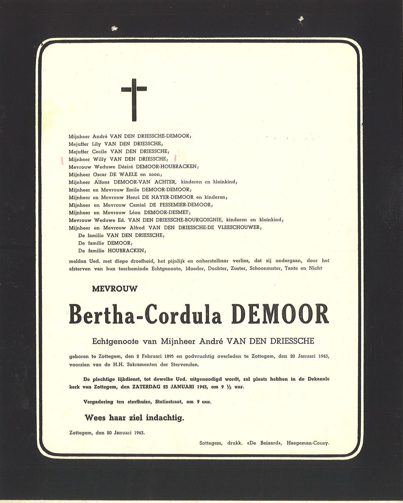 Bertha-Cordula Demoor