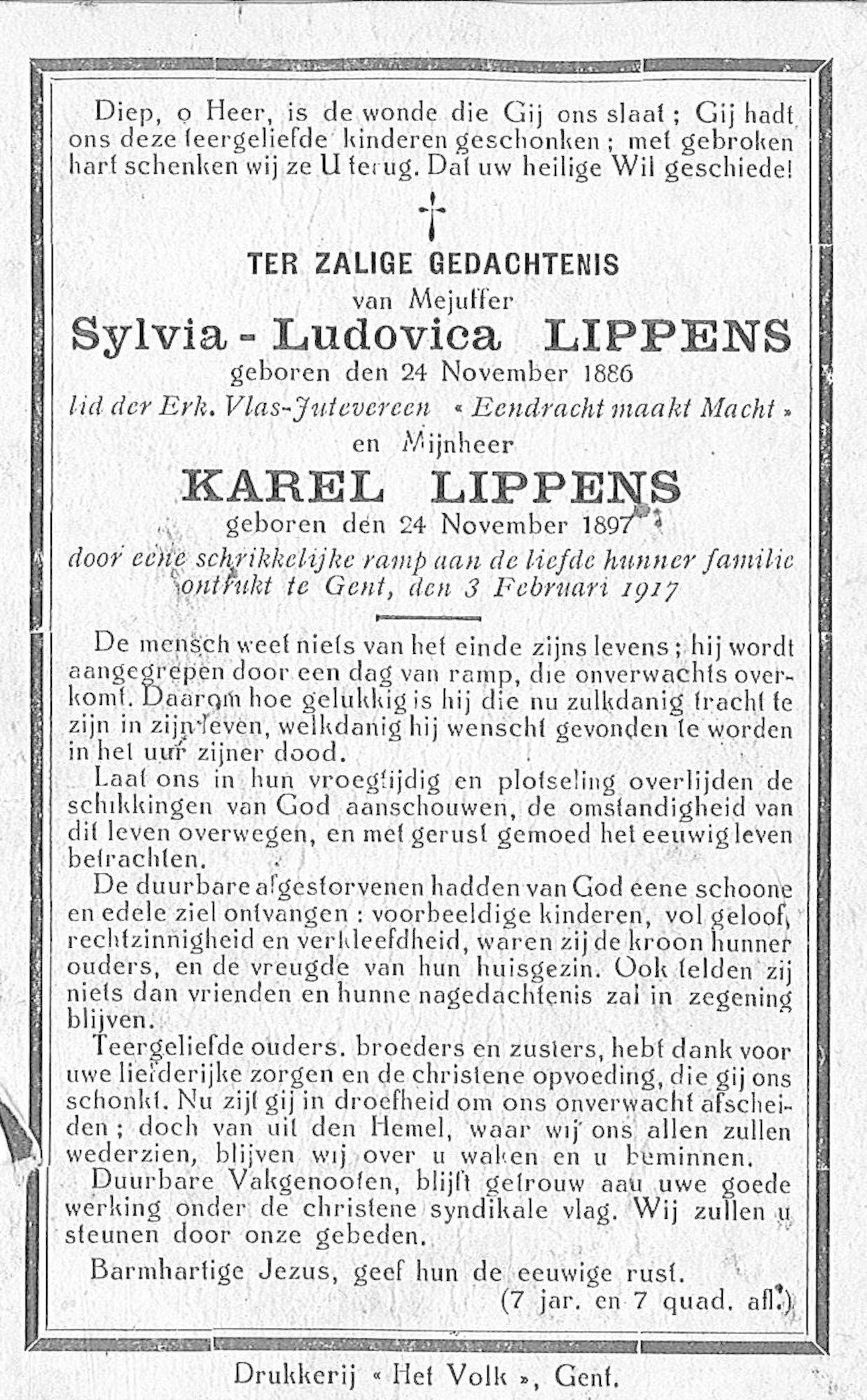 Lippens Sylvia-Ludovica en Karel