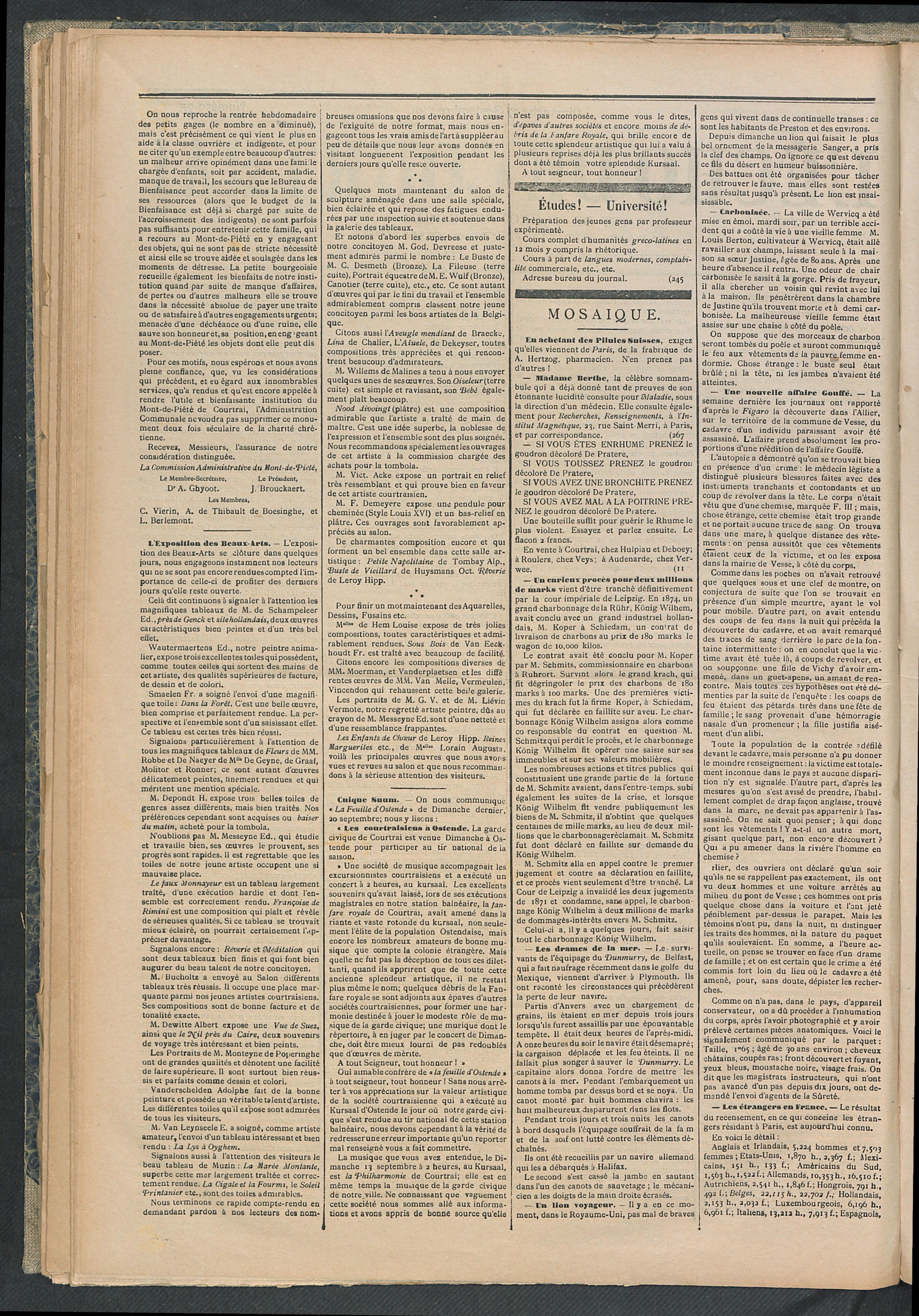 L'echo De Courtrai 1891-09-27 p2