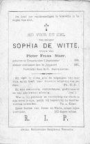 Sophia De Witte