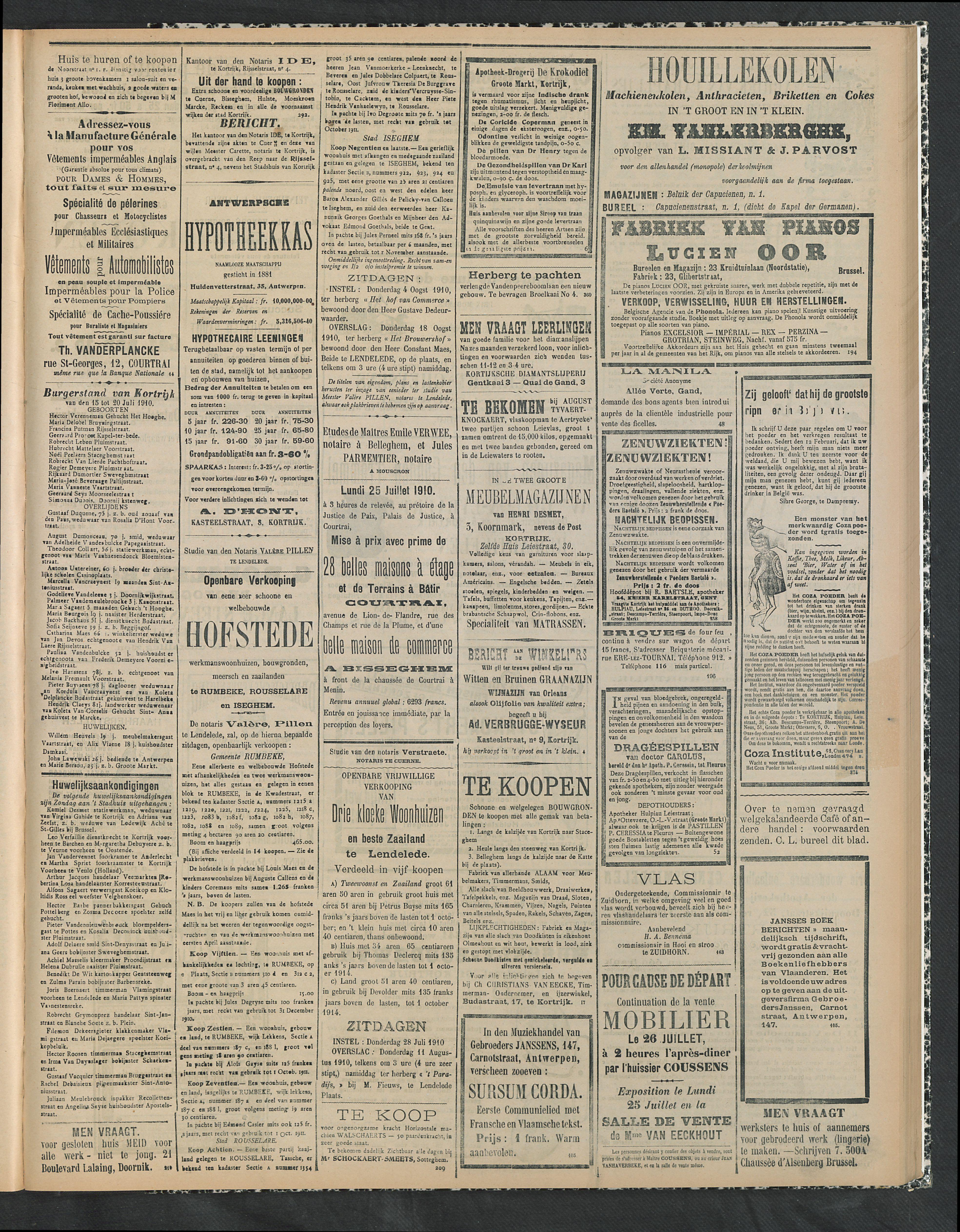 Gazette Van Kortrijk 1910-07-24 p3