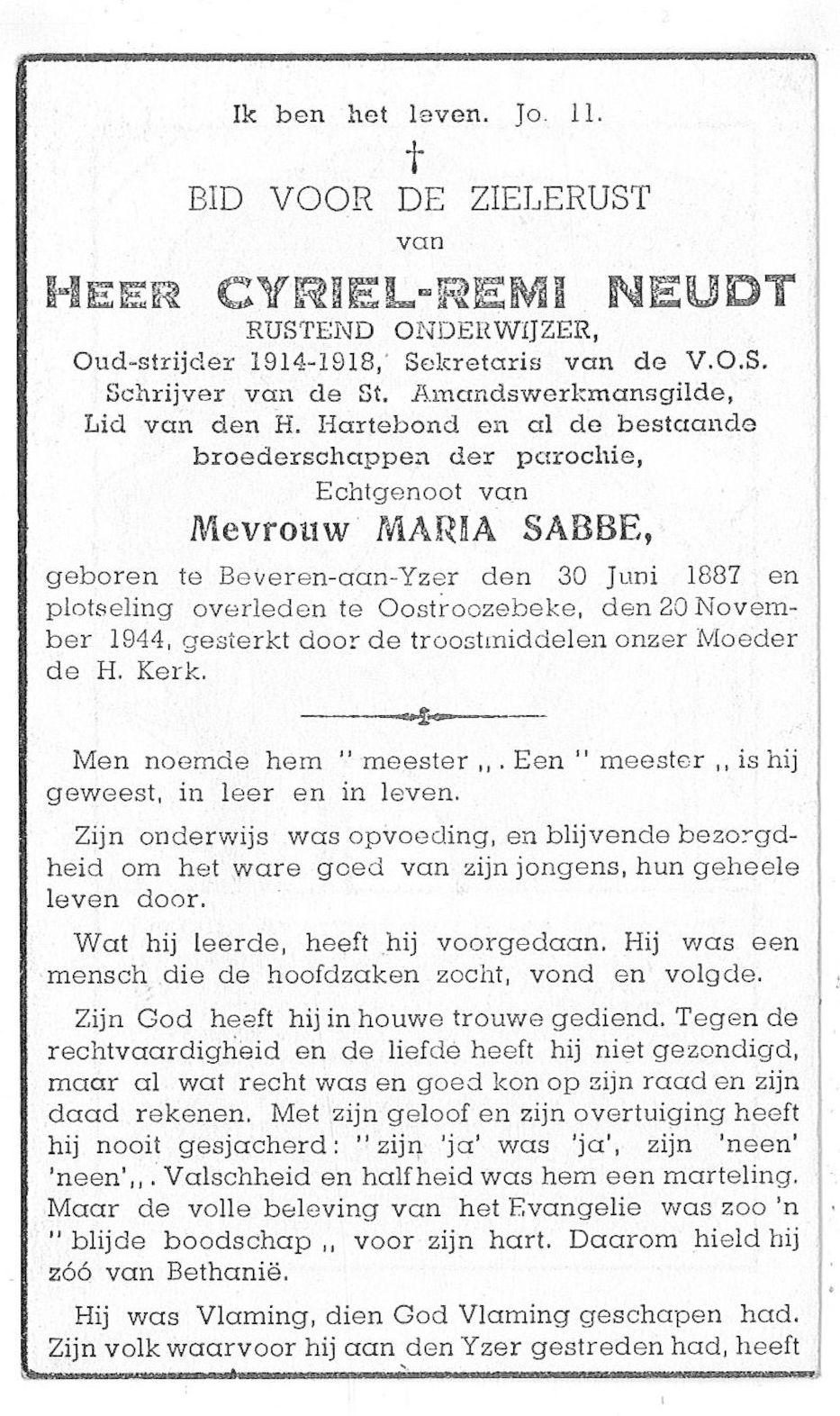 Cyriel-Remi Neudt