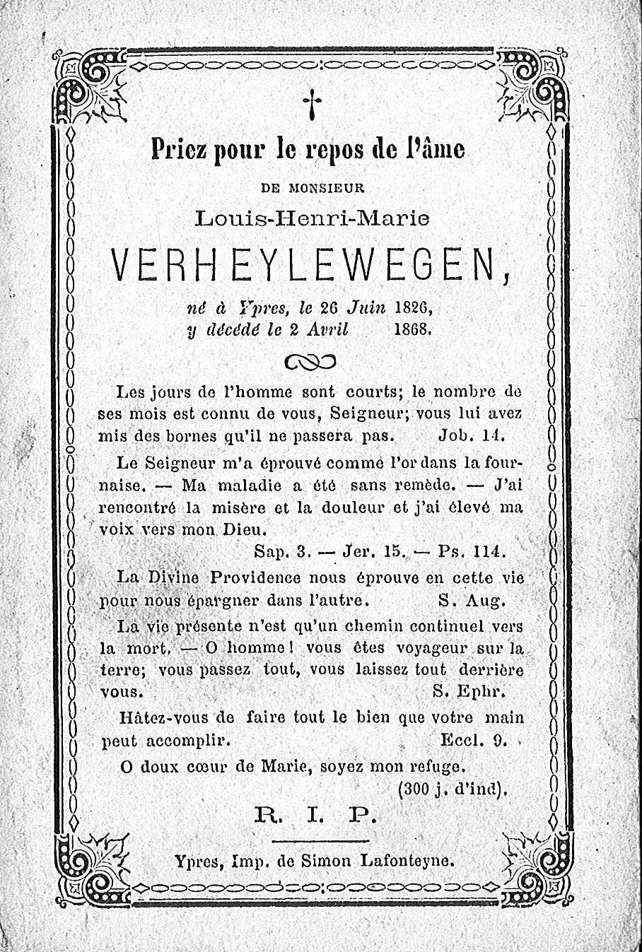 Louis-Henri-Marie Verheylewegen