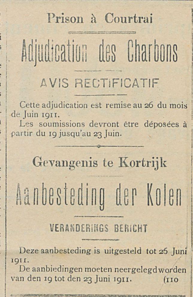 Adjudication des Charbons