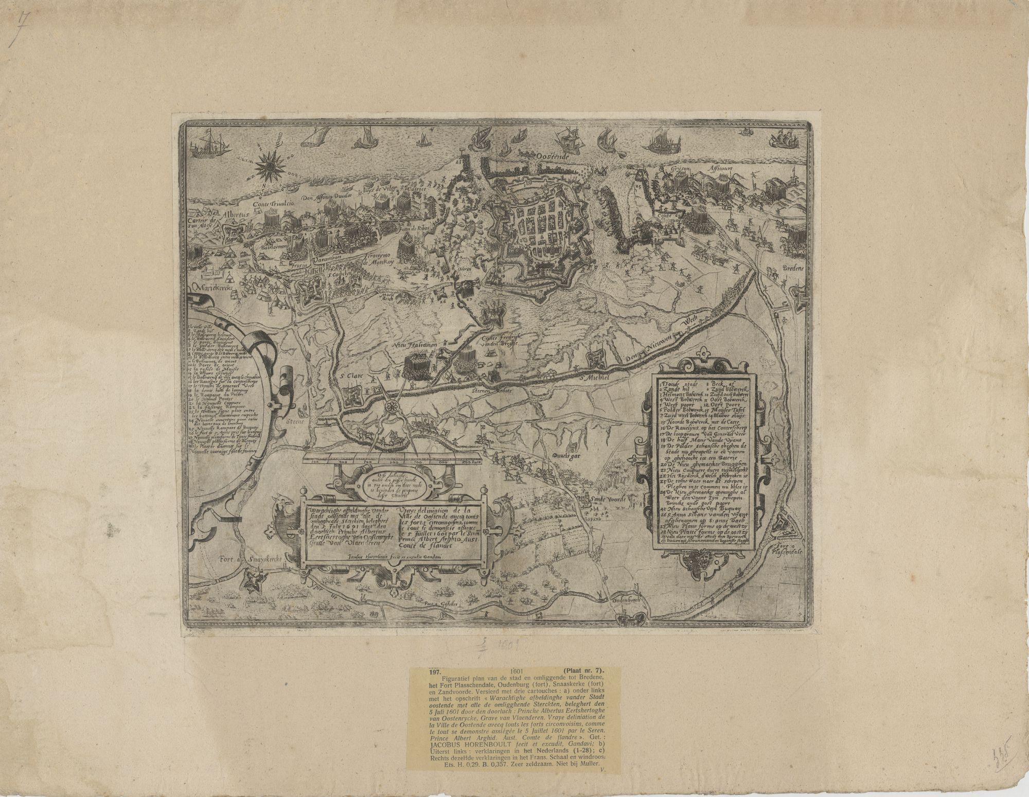 Westflandrica - Oostende, plan van de stad en de omgeving
