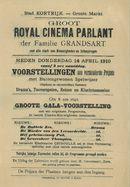 Paasfoor 1910: Royal Cinema Parlant van de familie Grandsart