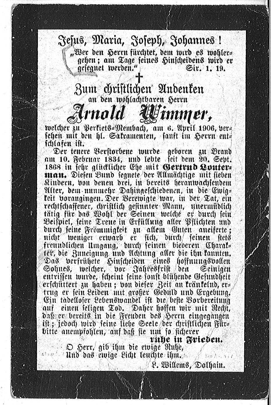 Arnold Wimmer