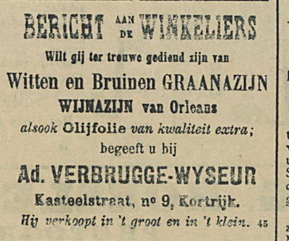 BERICHTAAN DE WINKELIERS